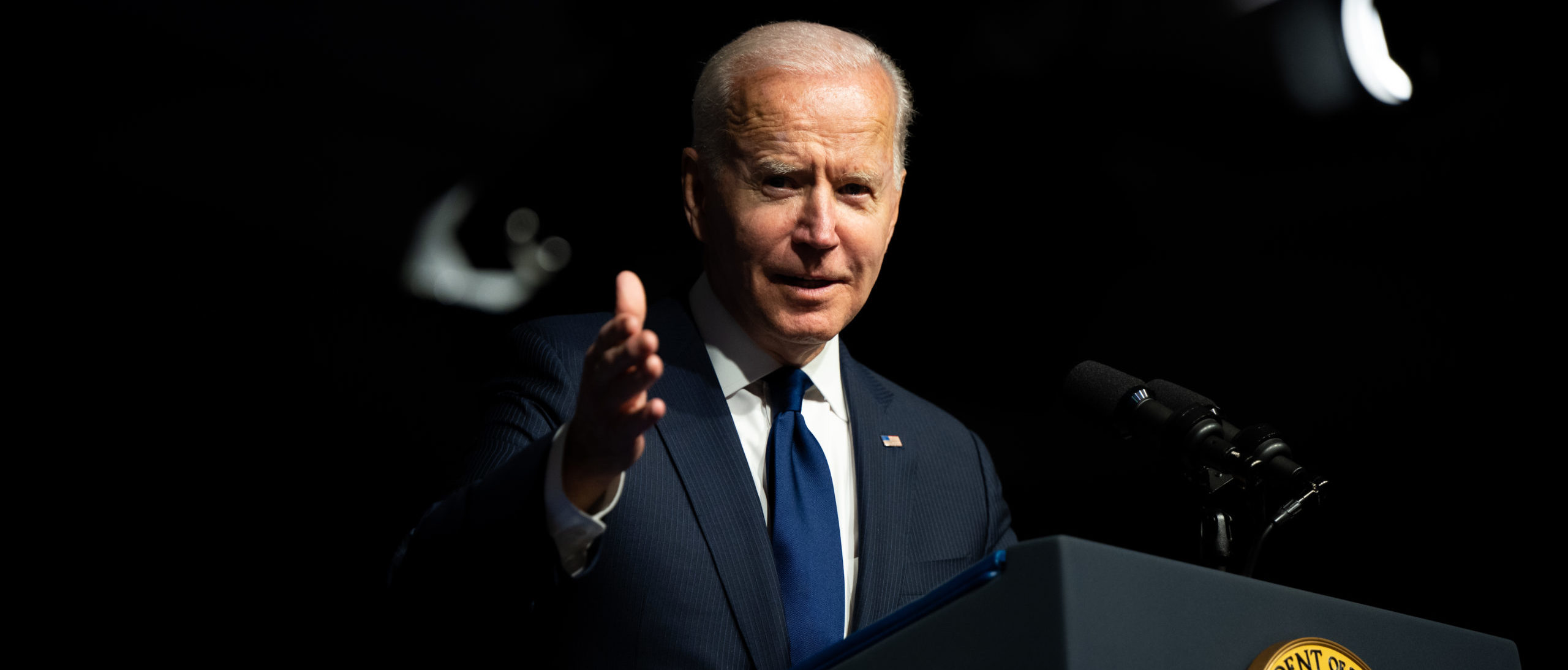 TULSA, OKLAHOMA - JUNE 01: U.S. President Joe Biden speaks at a rally during commemorations of the 100th anniversary of the Tulsa Race Massacre on June 01, 2021 in Tulsa, Oklahoma. (Photo by Brandon Bell/Getty Images)