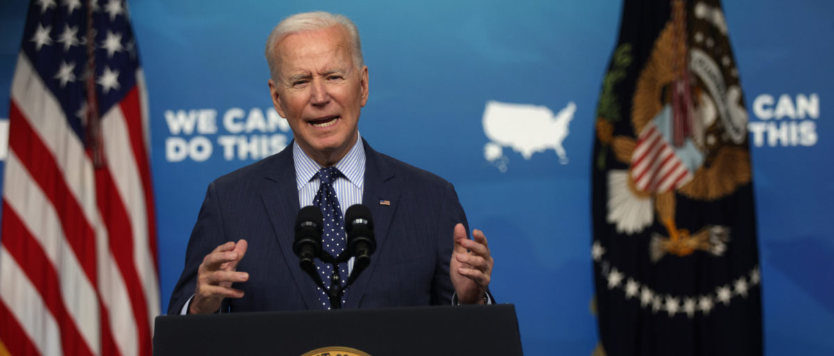 WASHINGTON, DC - JUNE 02: U.S. President Joe Biden speaks during an event in the South Court Auditorium of the White House June 2, 2021 in Washington, DC. (Photo by Alex Wong/Getty Images)
