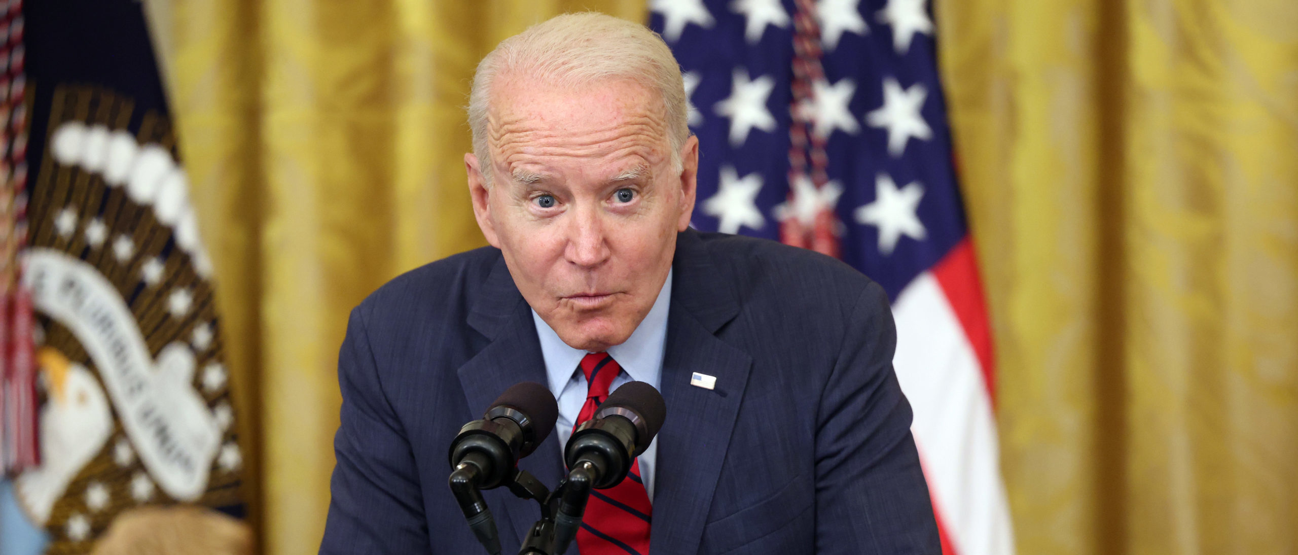 WASHINGTON, DC - JUNE 24: U.S. President Joe Biden delivers remarks on the Senate's bipartisan infrastructure deal at the White House on June 24, 2021 in Washington, DC. (Photo by Kevin Dietsch/Getty Images)