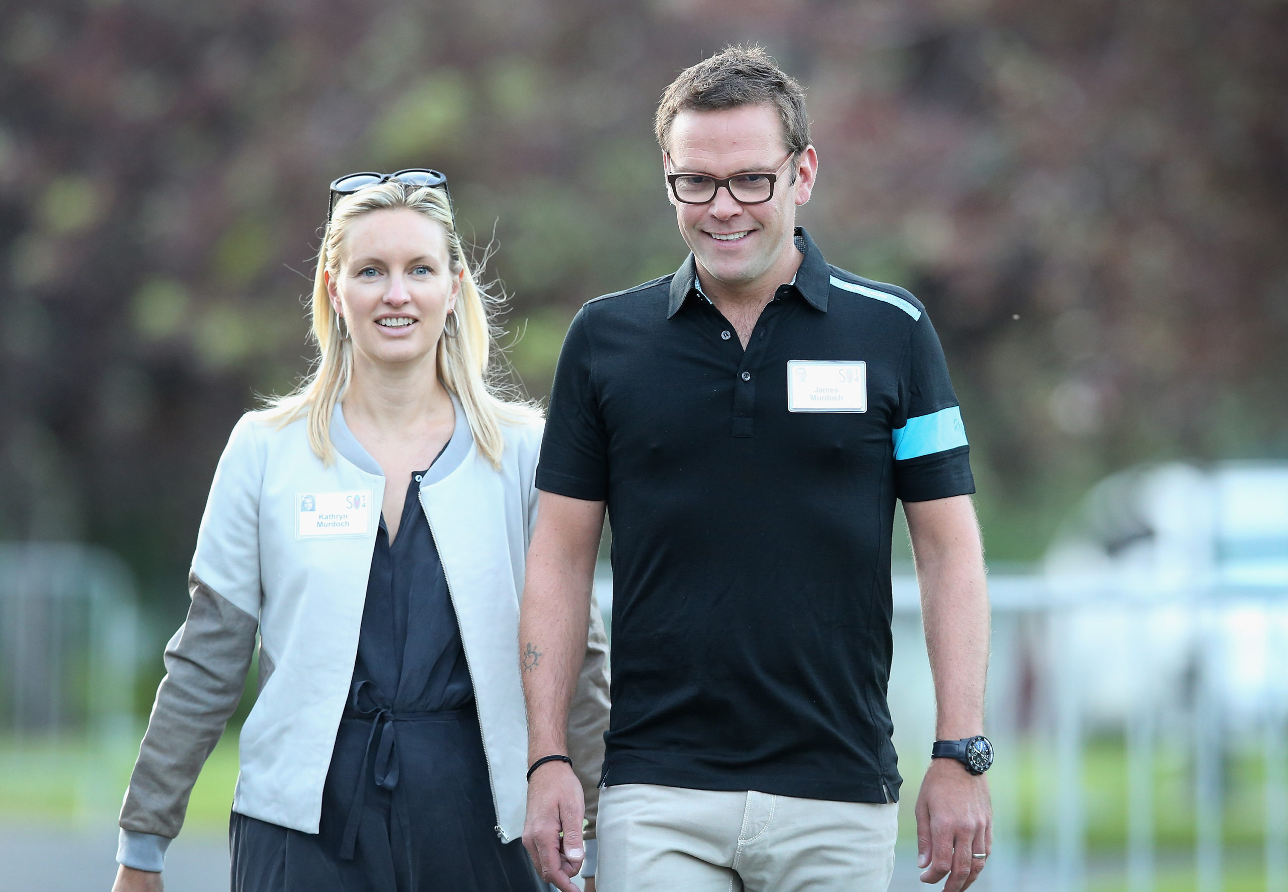 James and Kathryn Murdoch at the Allen & Company Sun Valley Conference on July 10, 2014 in Sun Valley, Idaho. (Scott Olson/Getty Images)