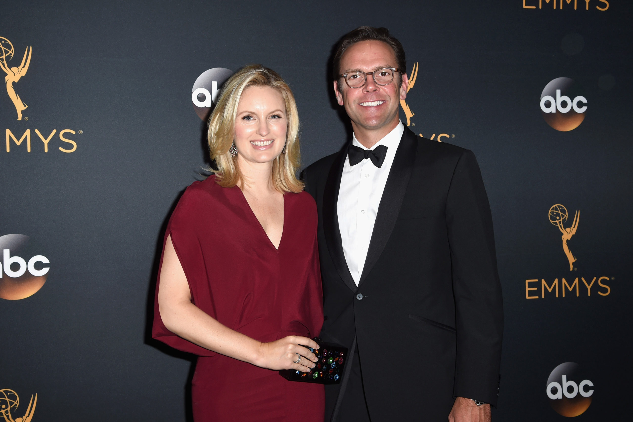 James Murdoch and his wife Kathryn Murdoch attend the 68th Annual Emmy Awards in 2016 in Los Angeles, California. (Emma McIntyre/Getty Images)