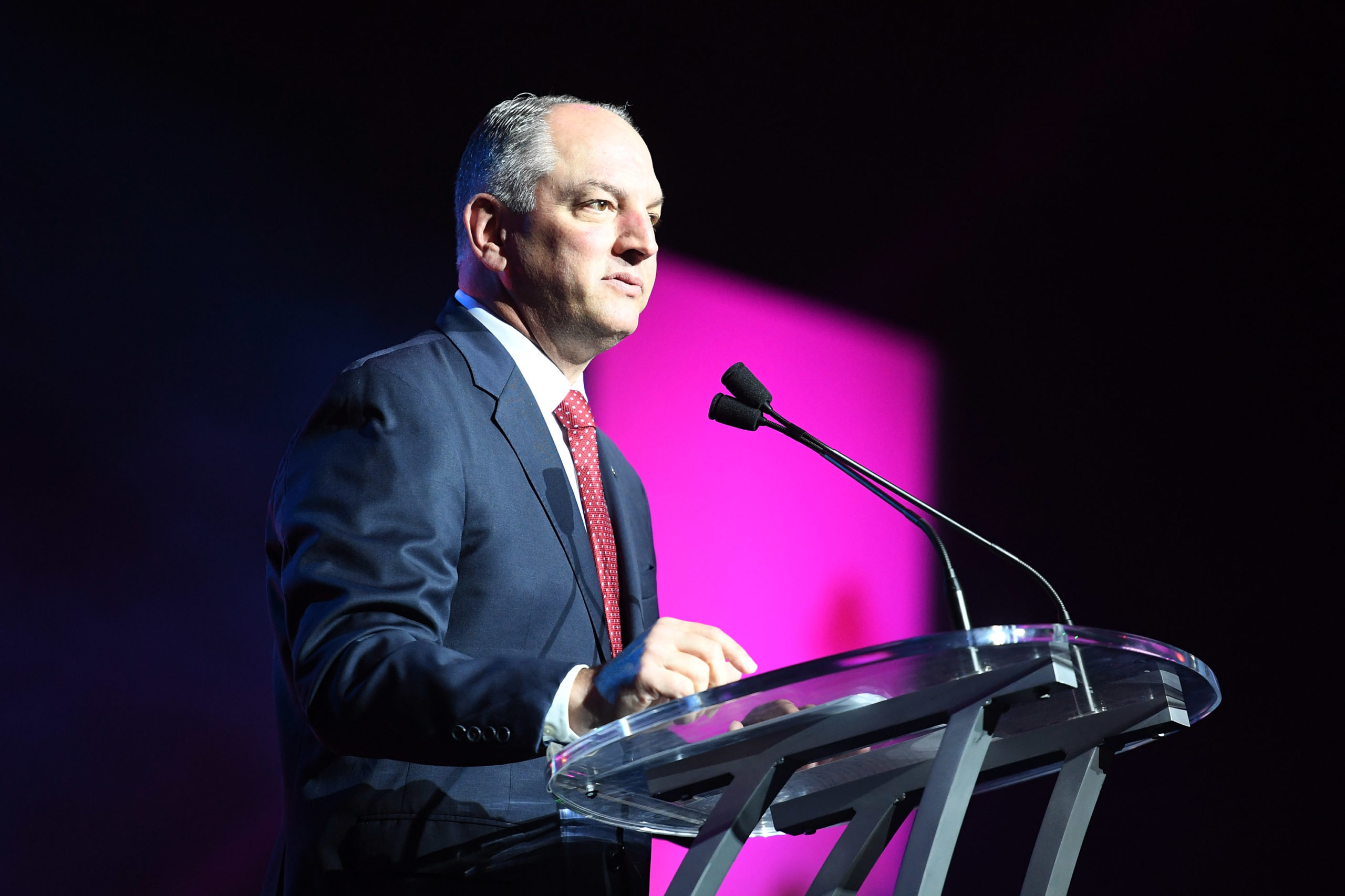Governor John Bel Edwards speaks onstage at the 2017 ESSENCE Festival presented by Coca-Cola at Ernest N. Morial Convention Center on June 30, 2017 in New Orleans, Louisiana. (Photo by Paras Griffin/Getty Images for 2017 ESSENCE Festival)