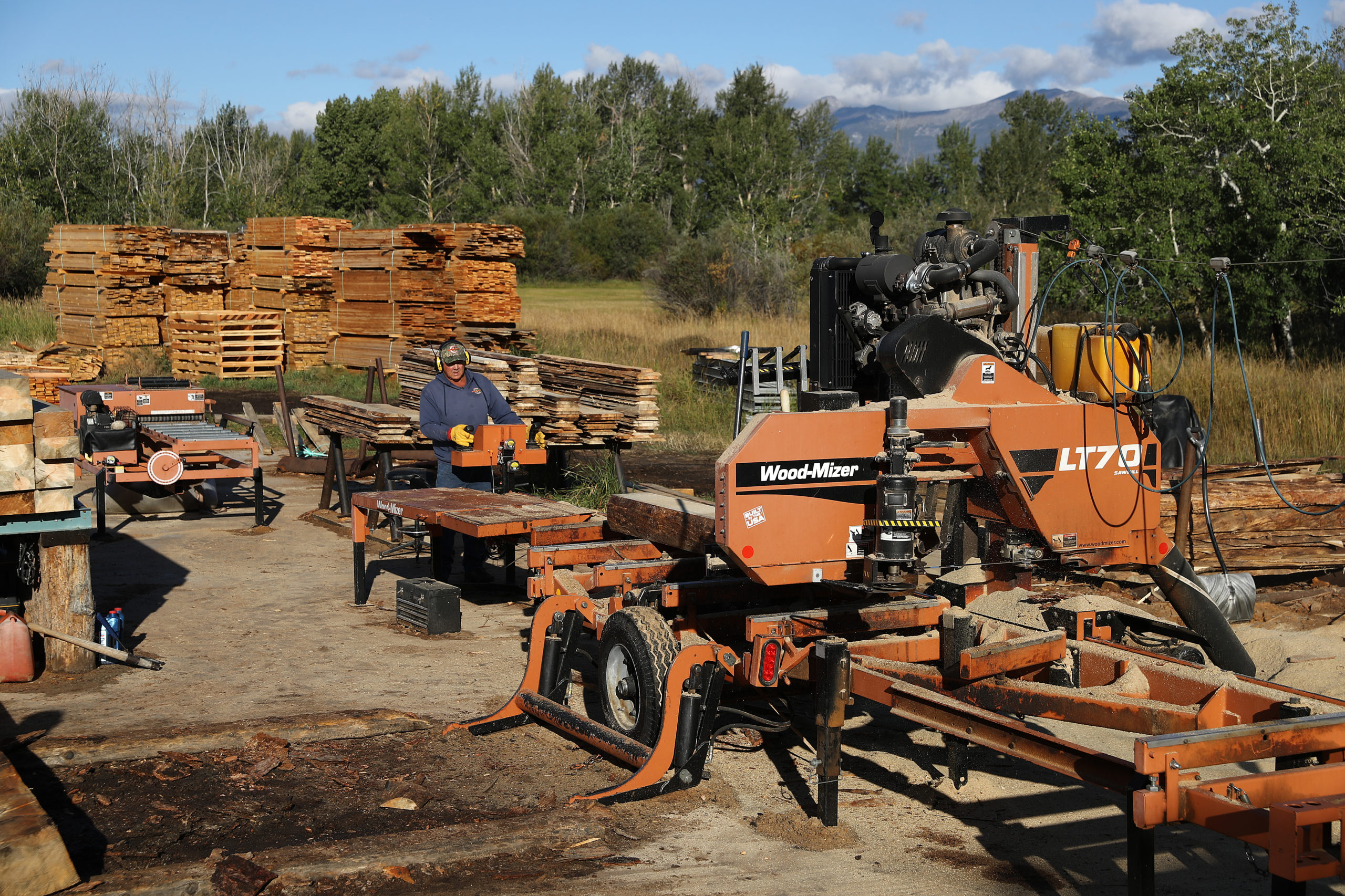 A sawmill in Deer Lodge, Montana. (Photo by Chip Somodevilla/Getty Images)