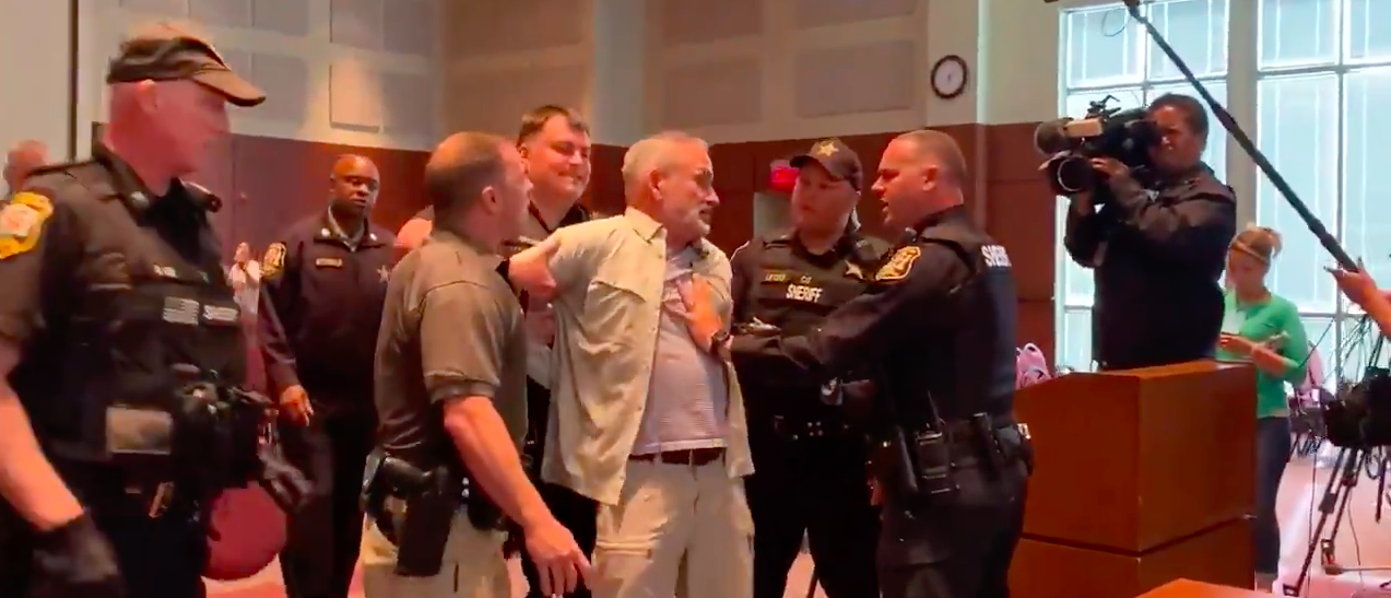 Concerned Parents Protesting CRT Arrested After Virginia School Board Meeting Declared Unlawful Assembly