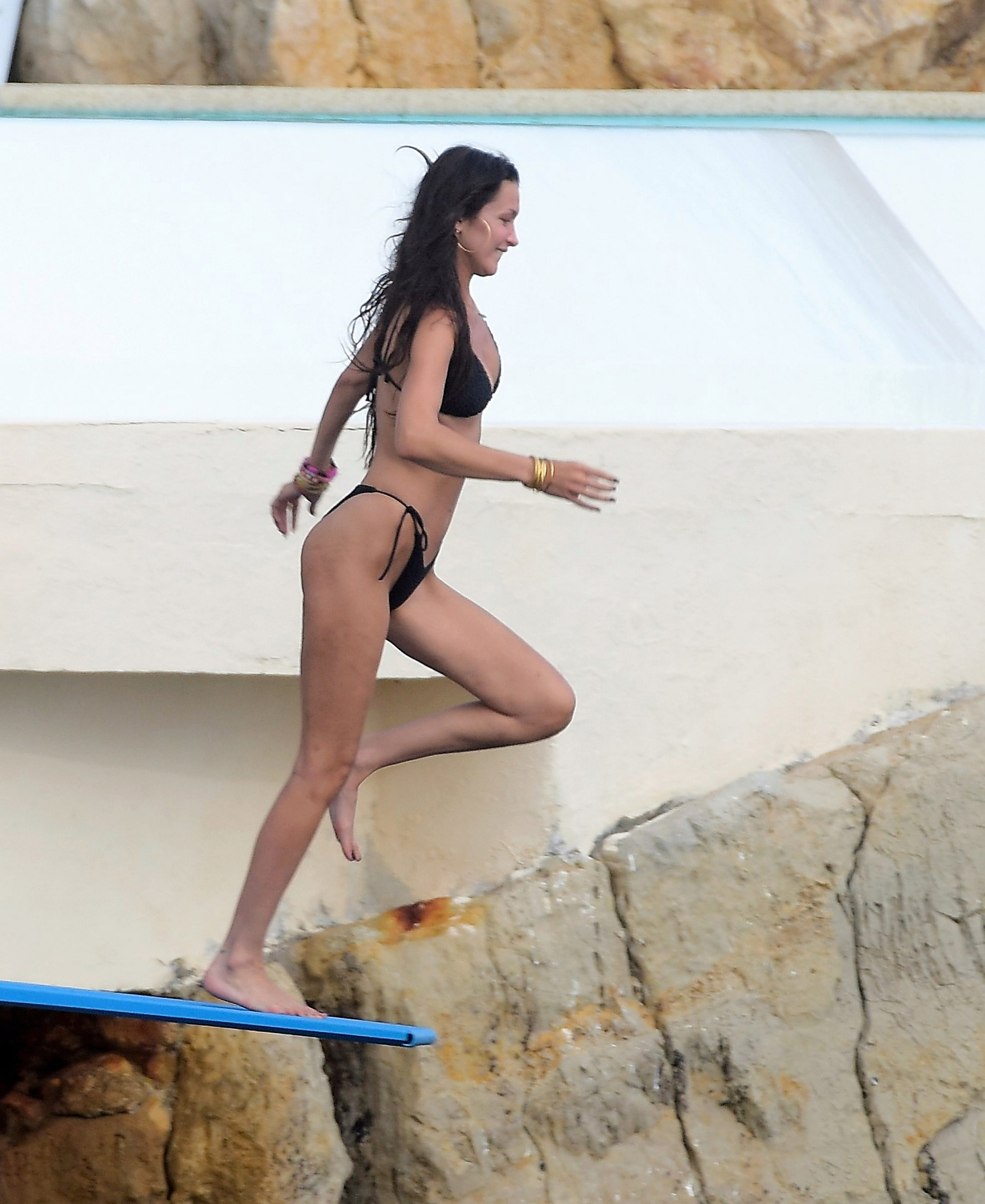 Bella Hadid Hotel Eden Roc, Antibes, France (Photo Credit: Spread Pictures / SplashNews.com)