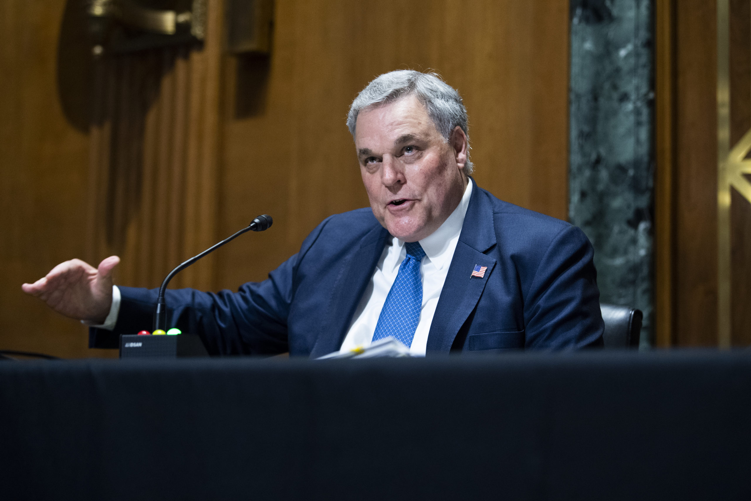 Internal Revenue Service (IRS) Commissioner Charles Rettig testifies during a Senate Finance Committee hearing June 8, 2021 on Capitol Hill in Washington, D.C. (Photo by Tom Williams-Pool/Getty Images)