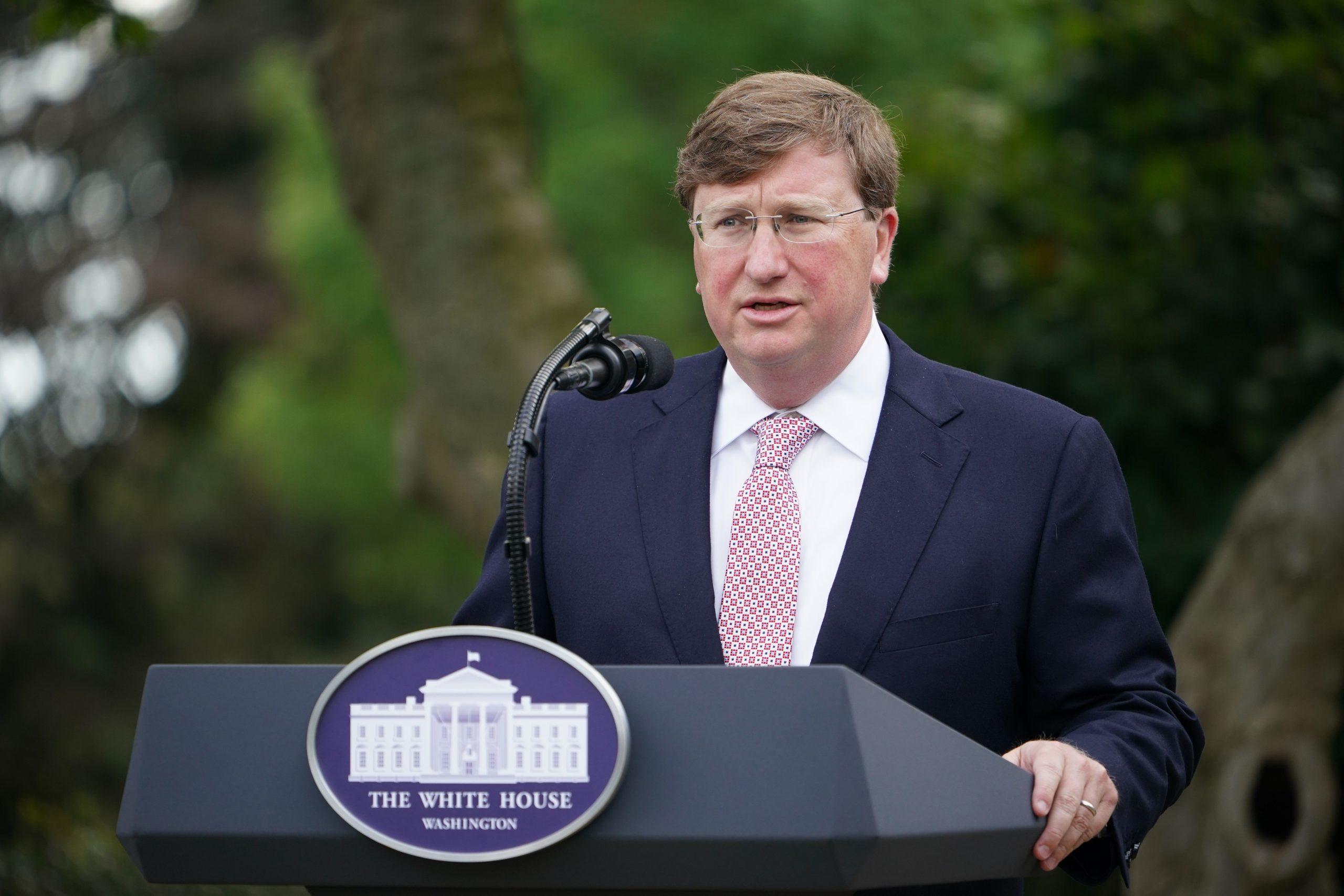 Mississippi Gov. Tate Reeves speaks at the White House on Sept. 28. (Mandel Ngan/AFP via Getty Images)