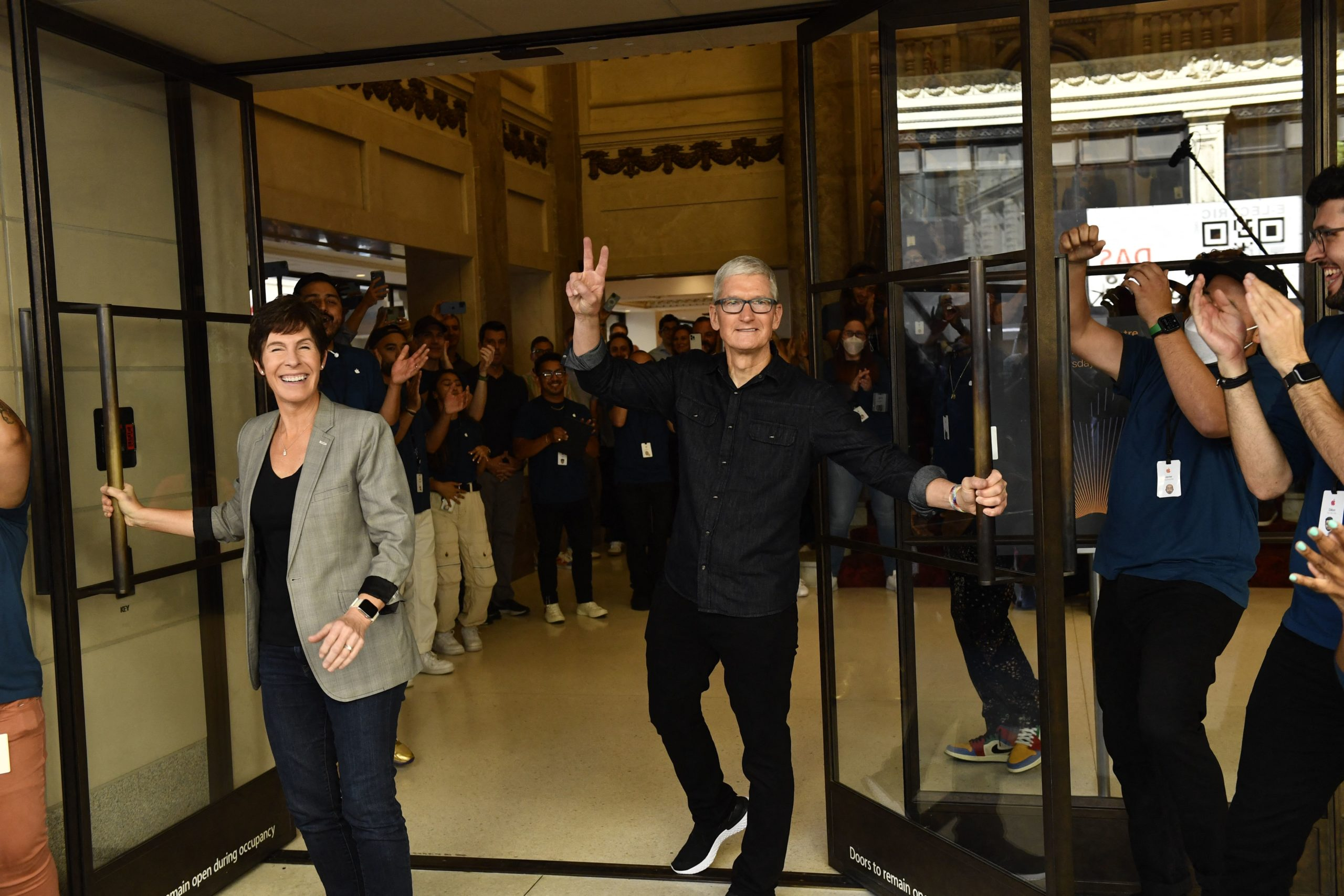 Apple CEO Tim Cook attends the opening of a Apple store on June 24 in Los Angeles, California. (Patrick T. Fallon/AFP via Getty Images)