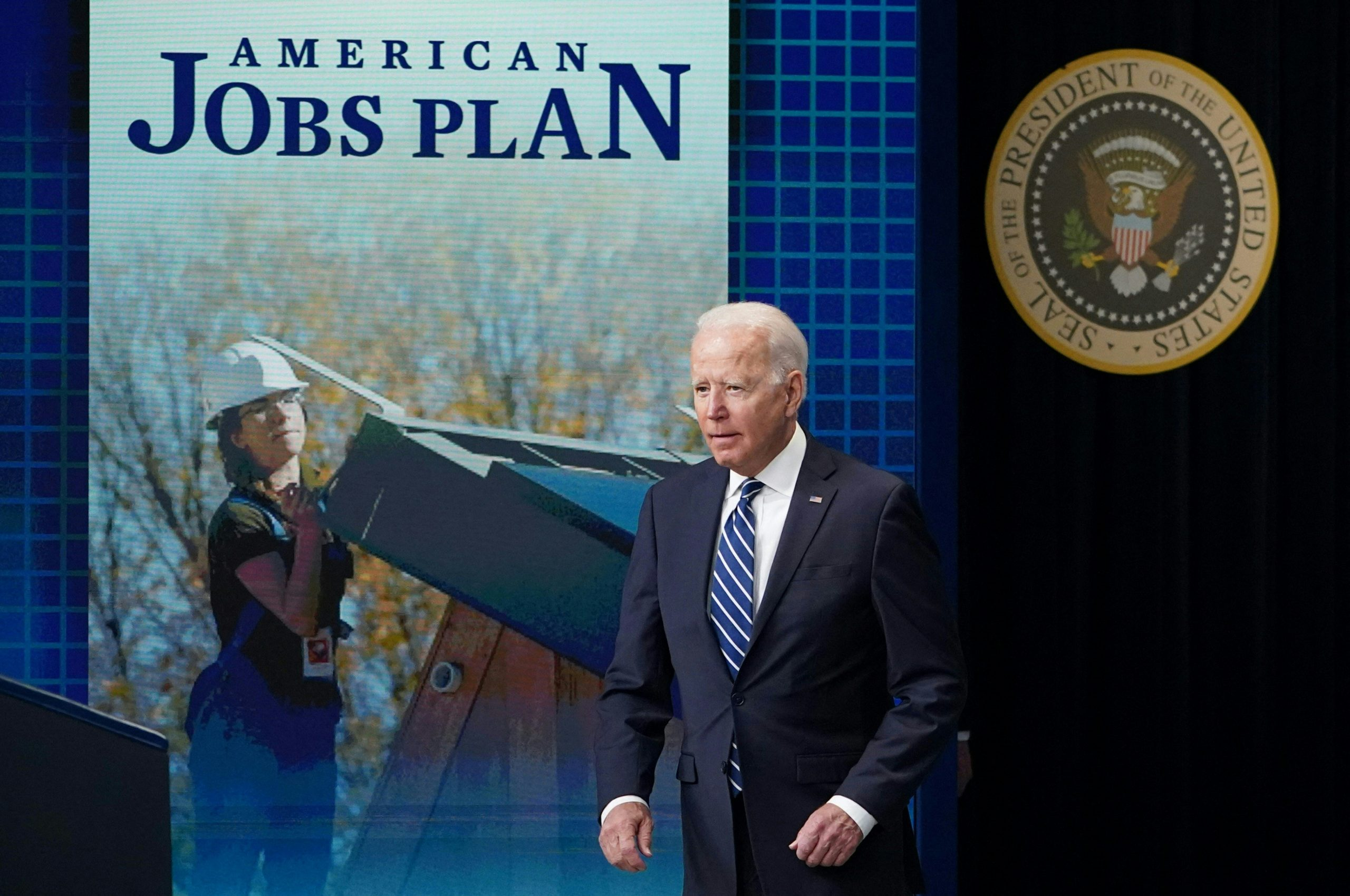 President Joe Biden arrives to speak about the June jobs report on July 2. (Mandel Ngan/AFP via Getty Images)