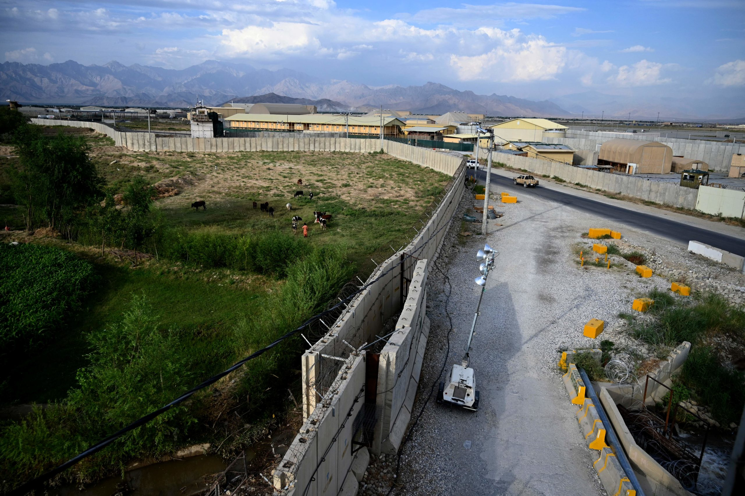 A general view of Bagram Air Base is pictured on Monday. (Wakil Kohsar/AFP via Getty Images)