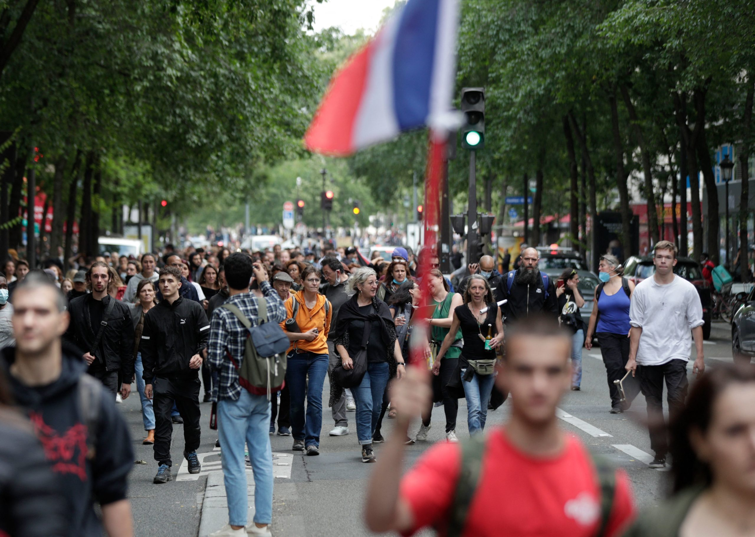 French Protests Against Mandatory Health Pass