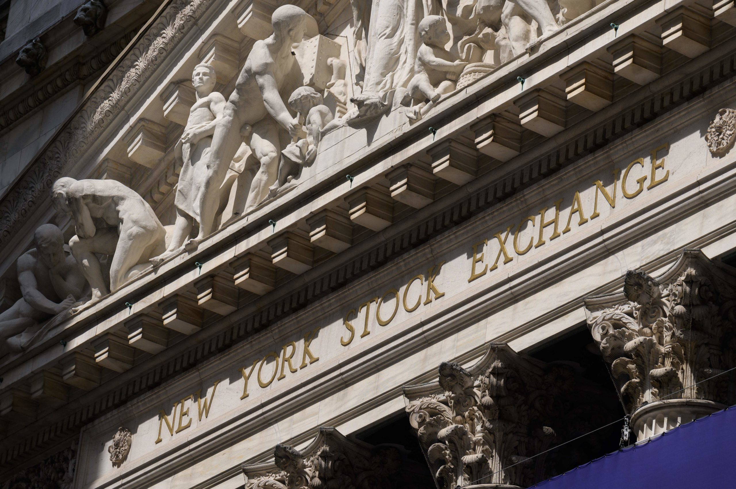 View of the New York Stock Exchange at Wall Street on July 15 in New York City. (Angela Weiss/AFP via Getty Images)