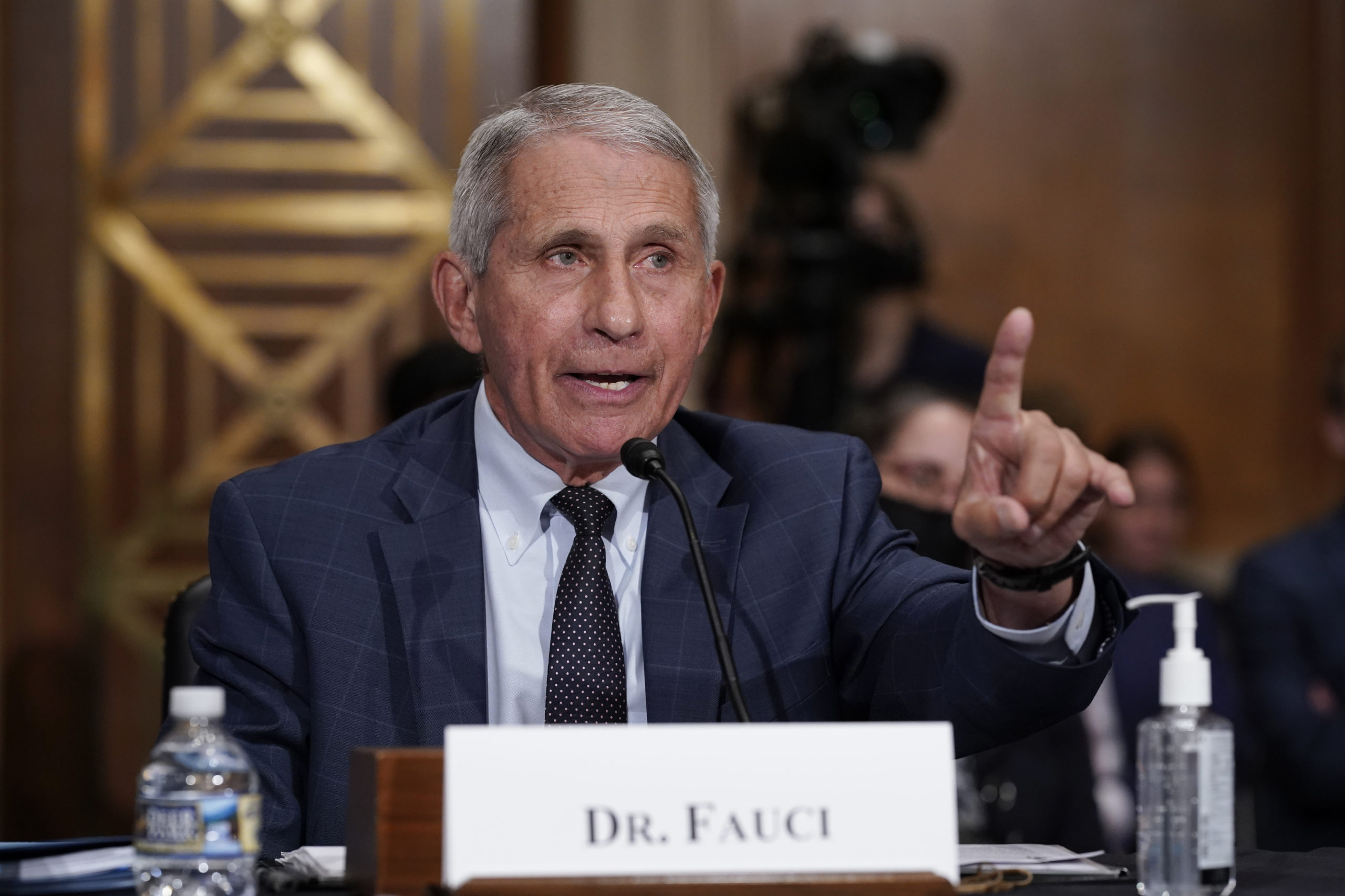 WASHINGTON, DC - JULY 20: Top infectious disease expert Dr. Anthony Fauci responds to accusations by Sen. Rand Paul, R-Ky., as he testifies before the Senate Health, Education, Labor, and Pensions Committee, July 20, 2021 on Capitol Hill in Washington, DC. Cases of COVID-19 have tripled over the past three weeks, and hospitalizations and deaths are rising among unvaccinated people. (Photo by J. Scott Applewhite-Pool/Getty Images)