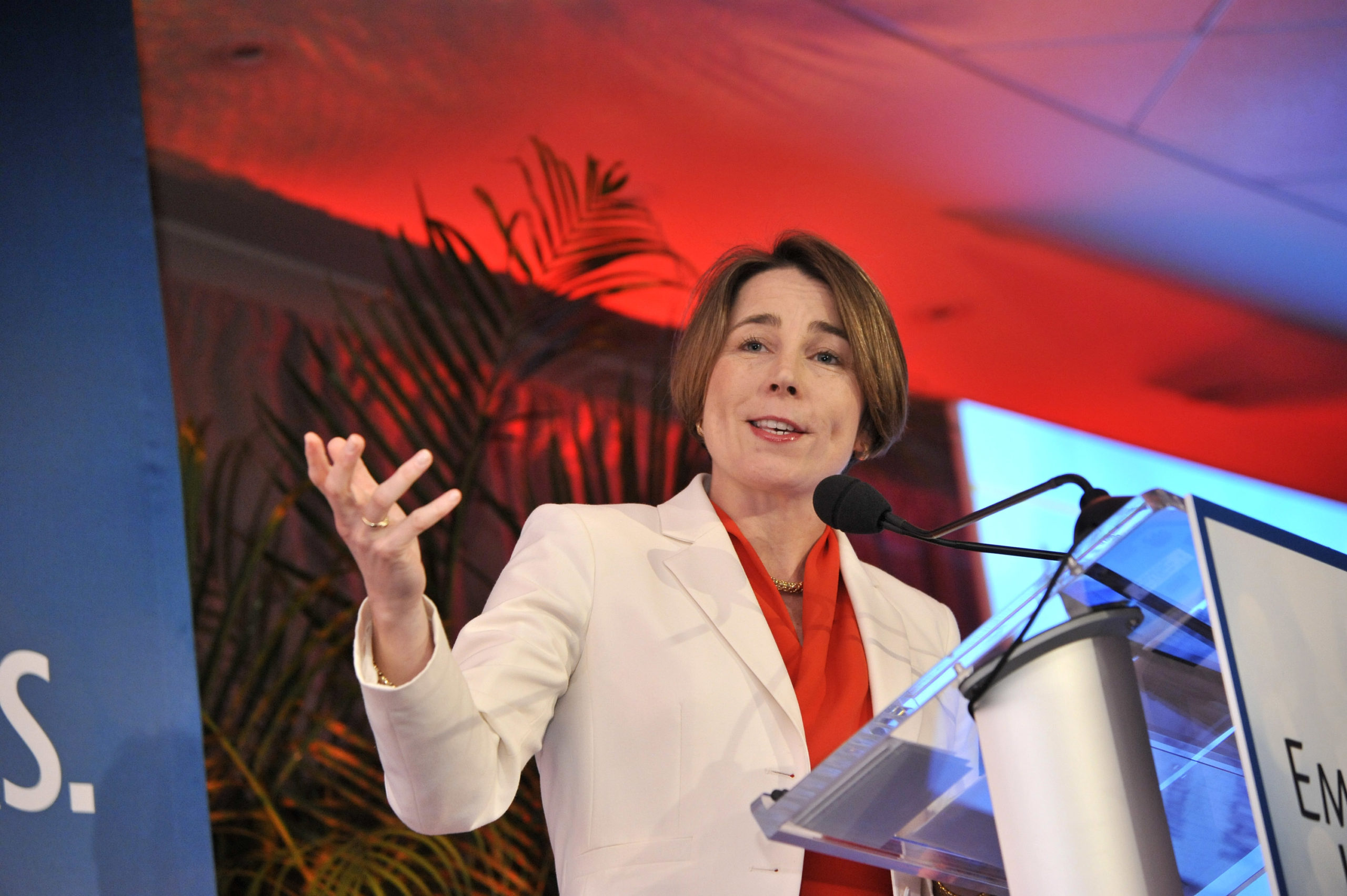 Attorney General Maura Healey speaks at a 2015 gala in Washington, D.C. (Kris Connor/Getty Images for EMILY's List)