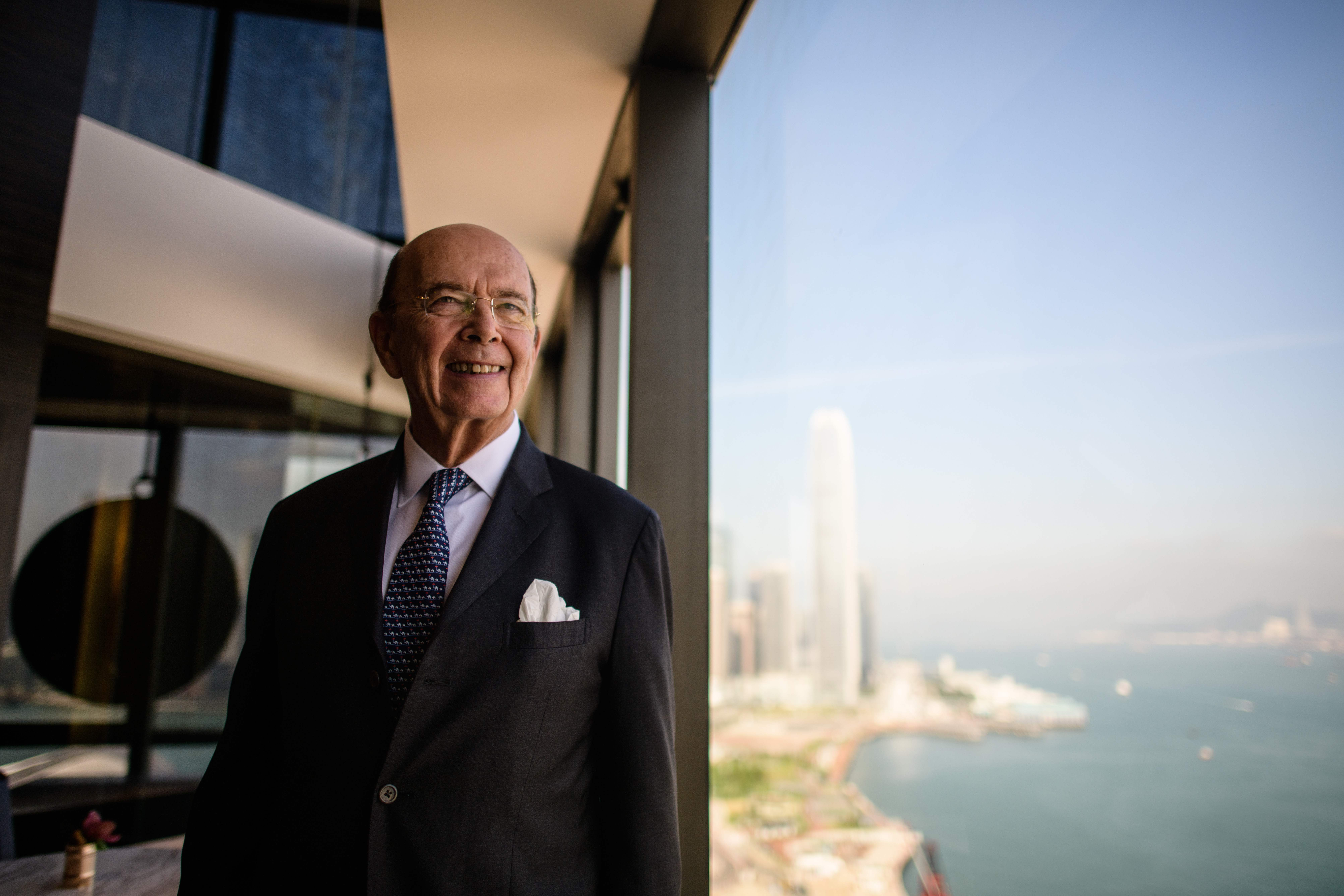 Former Commerce Secretary Wilbur Ross poses before a round table briefing in Hong Kong on Sept. 27, 2017. (Anthony Wallace/AFP via Getty Images)