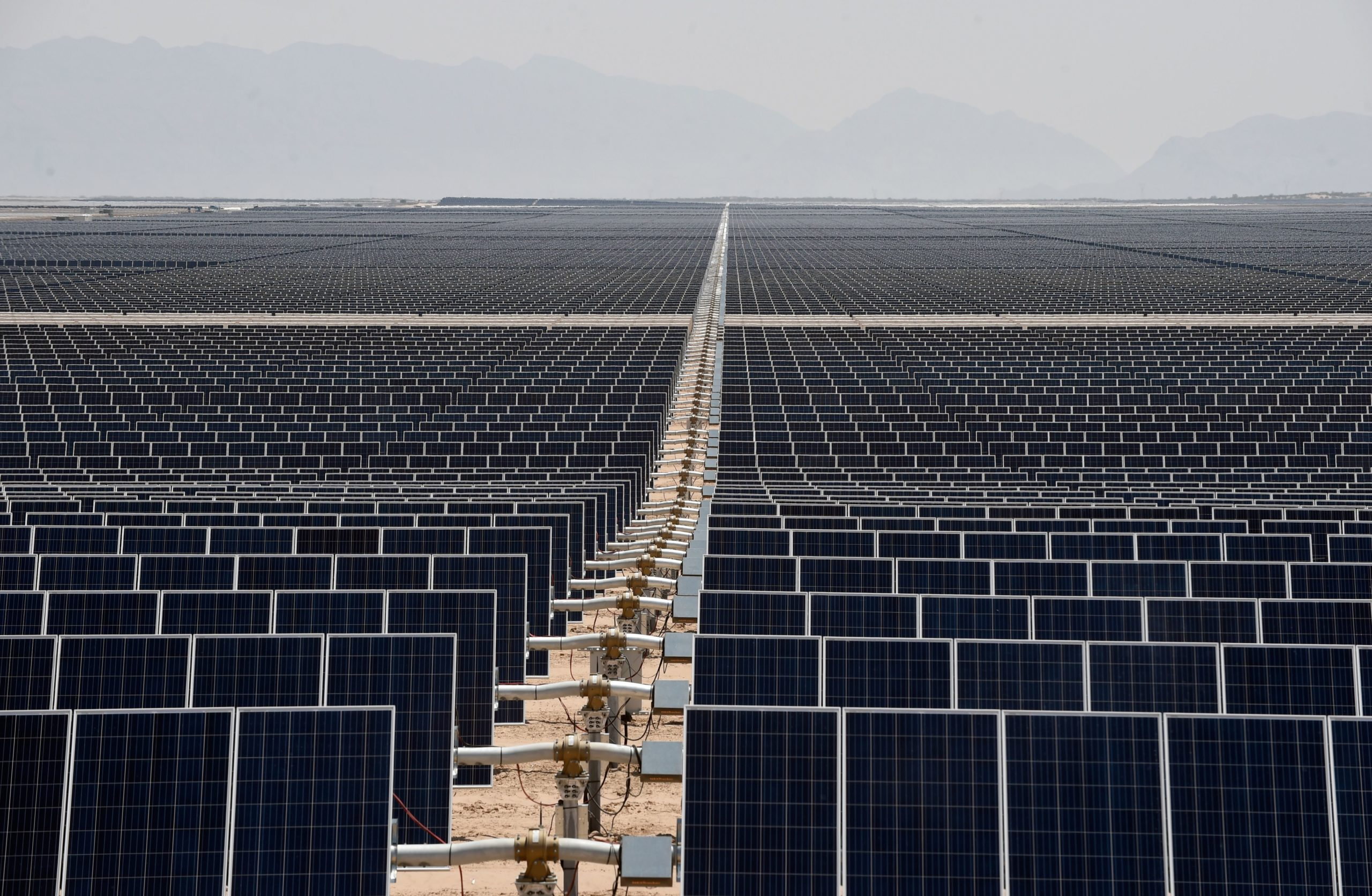 A solar power plant in Mexico is pictured in 2018. (Alfredo Estrella/AFP via Getty Images)