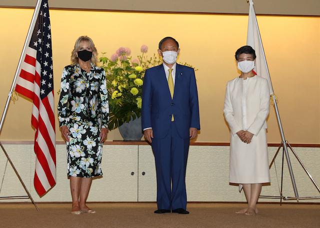 (Photo by STR/JAPAN POOL/AFP via Getty Images)