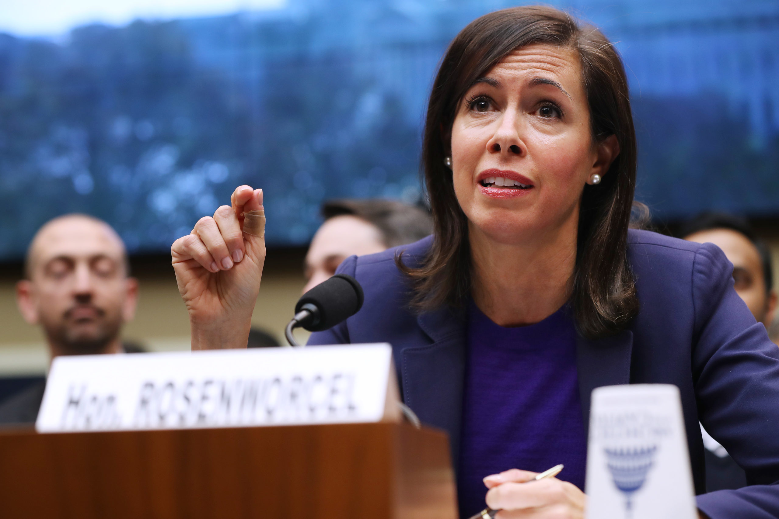 Federal Communication Commission Chairwoman Jessica Rosenworcel testifies before the House Energy and Commerce Committee's Communications and Technology Subcommittee. (Photo by Chip Somodevilla/Getty Images)