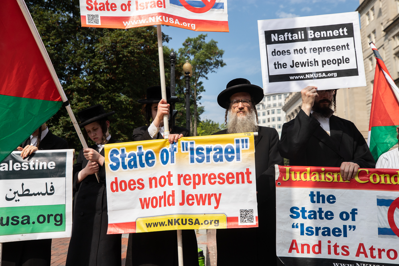 A group of rabbis joined demonstrators in protest of President Joe Biden's meeting with Israeli Prime Minister Naftali Bennett in Washington, D.C. on August 26, 2021. (Kaylee Greenlee - Daily Caller News Foundation)