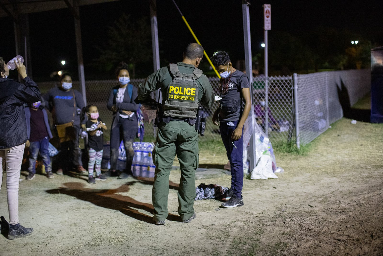 Border officials processed around 100 migrants who surrendered in smaller groups near La Joya, Texas on August 7, 2021. (Kaylee Greenlee - Daily Caller News Foundation)