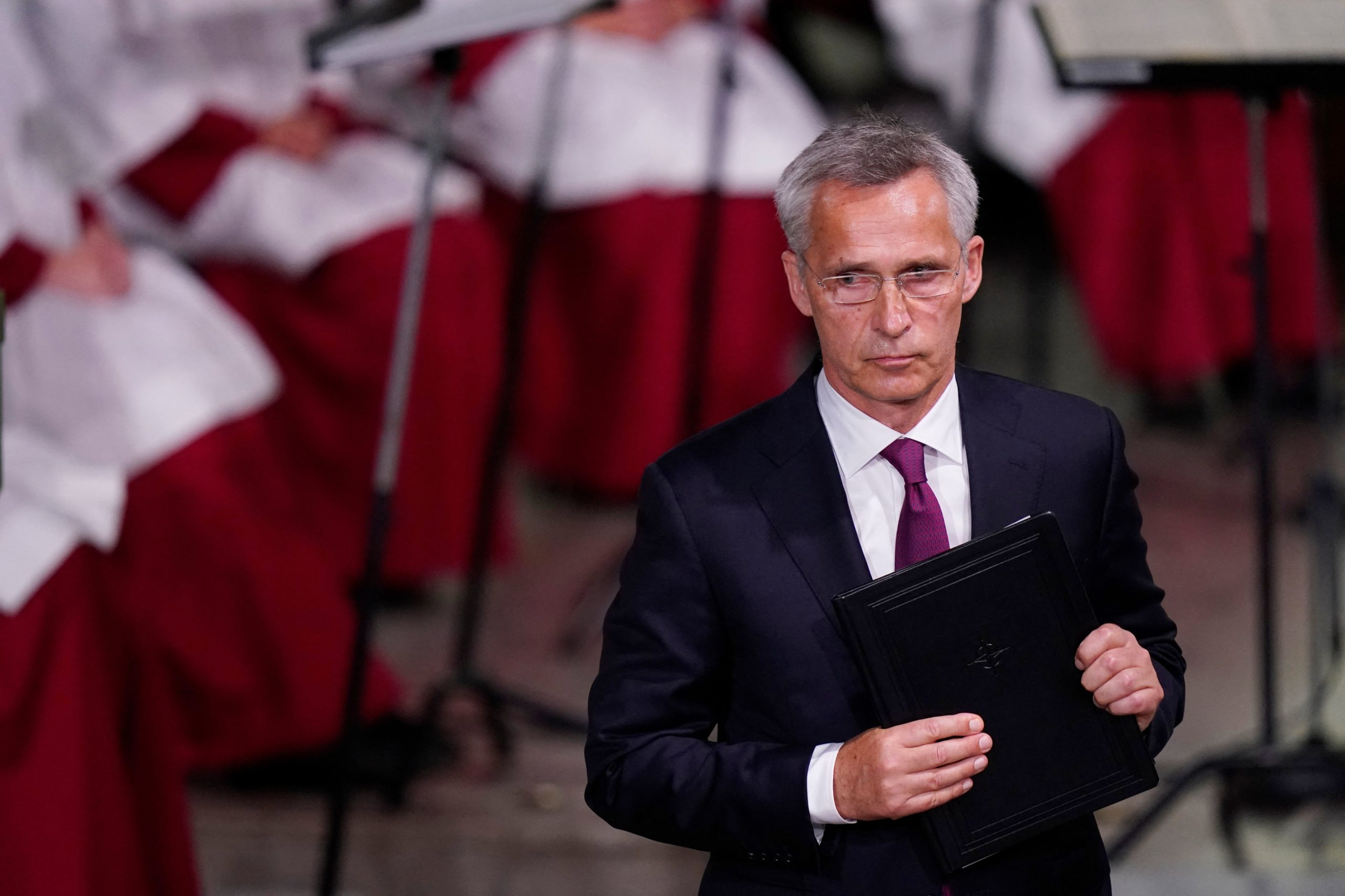 NATO Secretary general Jens Stoltenberg delivers a speech in July. (Torstein Be/NTB/AFP via Getty Images)