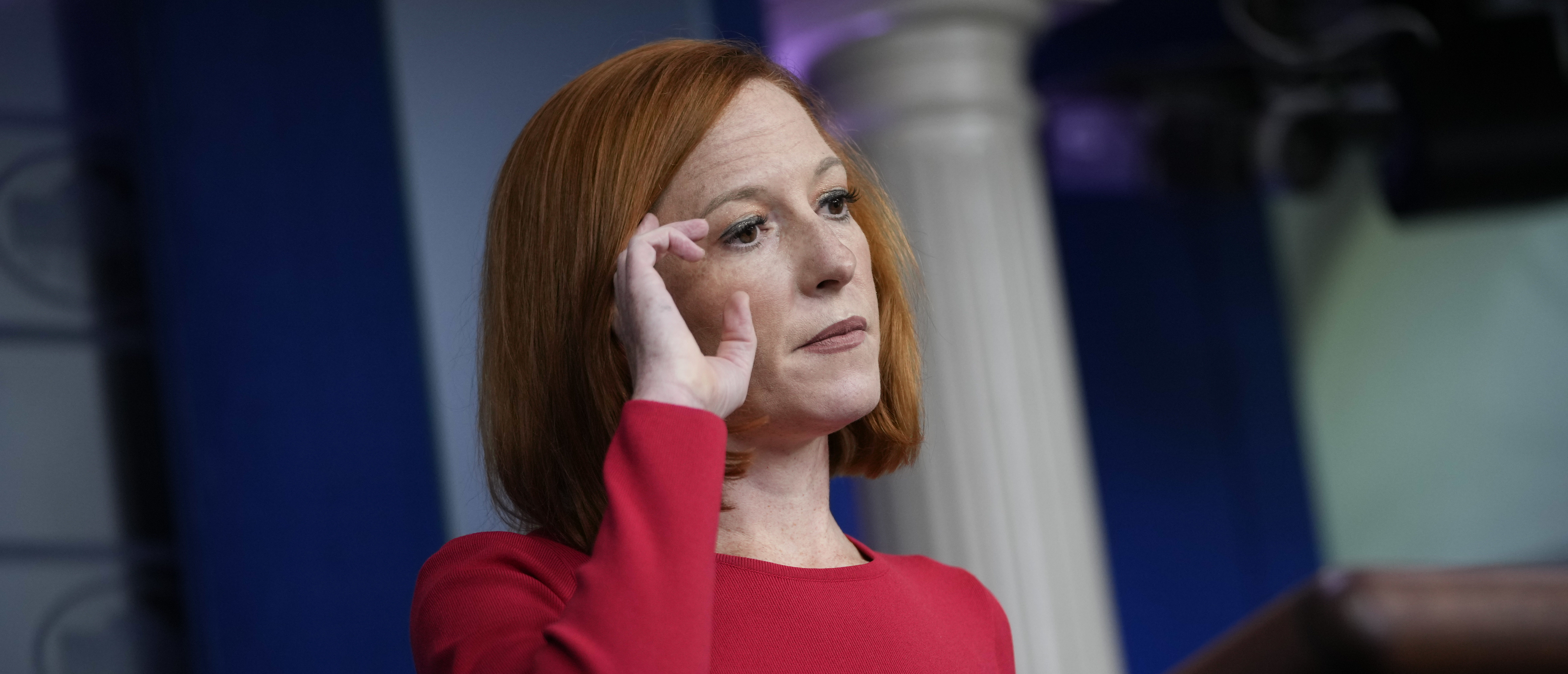 White House Press Secretary Jen Psaki speaks during the daily press briefing at the White House on August 25, 2021 in Washington, DC. The bulk of the questions she fielded from reporters were related to the ongoing evacuation efforts in Afghanistan. (Photo by Drew Angerer/Getty Images)