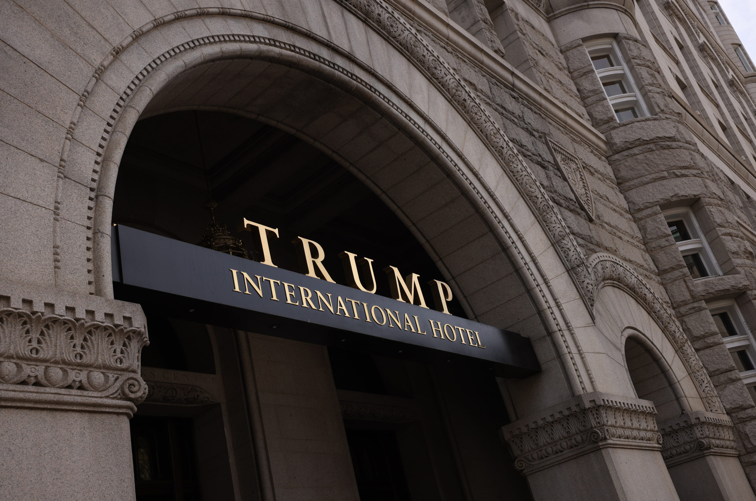 WASHINGTON, DC - JUNE 02: The Trump International Hotel is seen on June 02, 2021 in Washington, DC. The Trump Organization is attempting to sell the lease to the hotel after failing to in 2019 before the pandemic hit. (Photo by Kevin Dietsch/Getty Images)