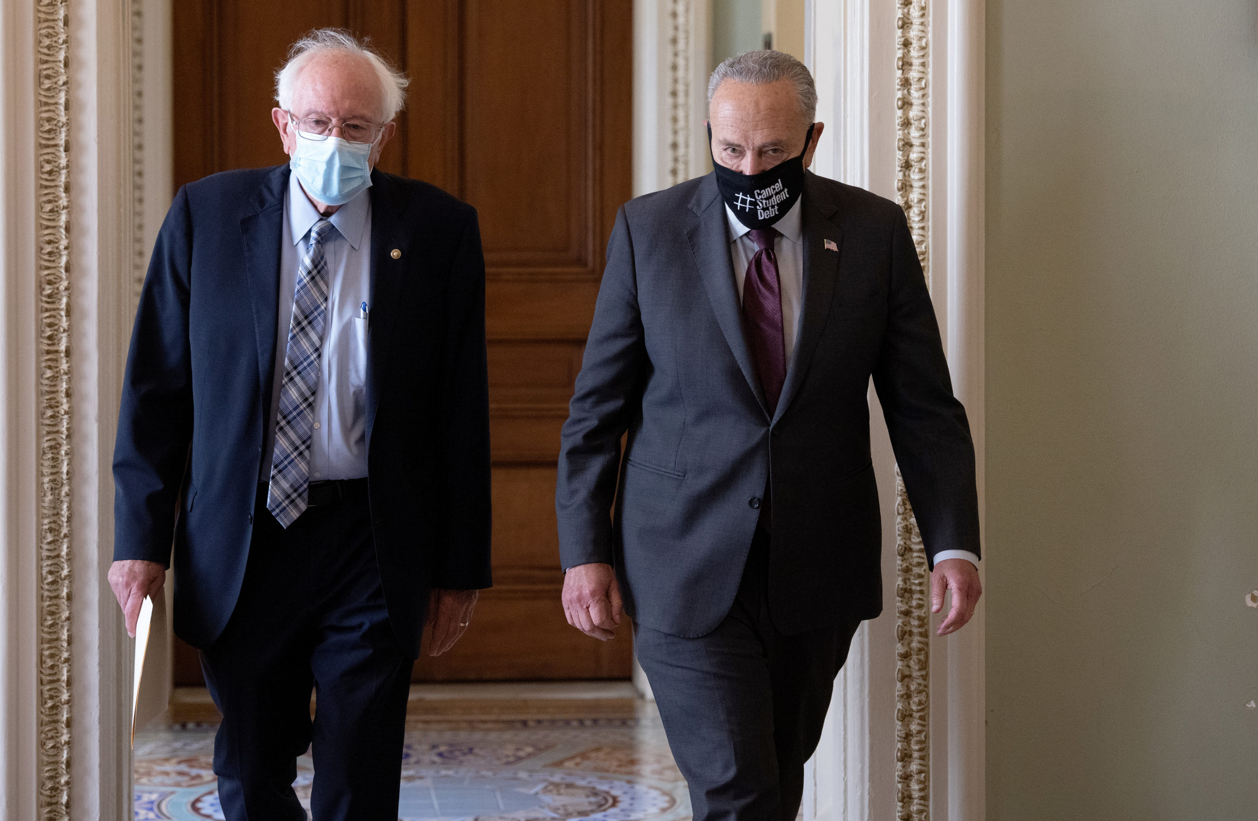 Sen. Bernie Sanders authored Democrats' $3.5 trillion budget, which he has acknowledged will likely pass on party lines. (Win McNamee/Getty Images)