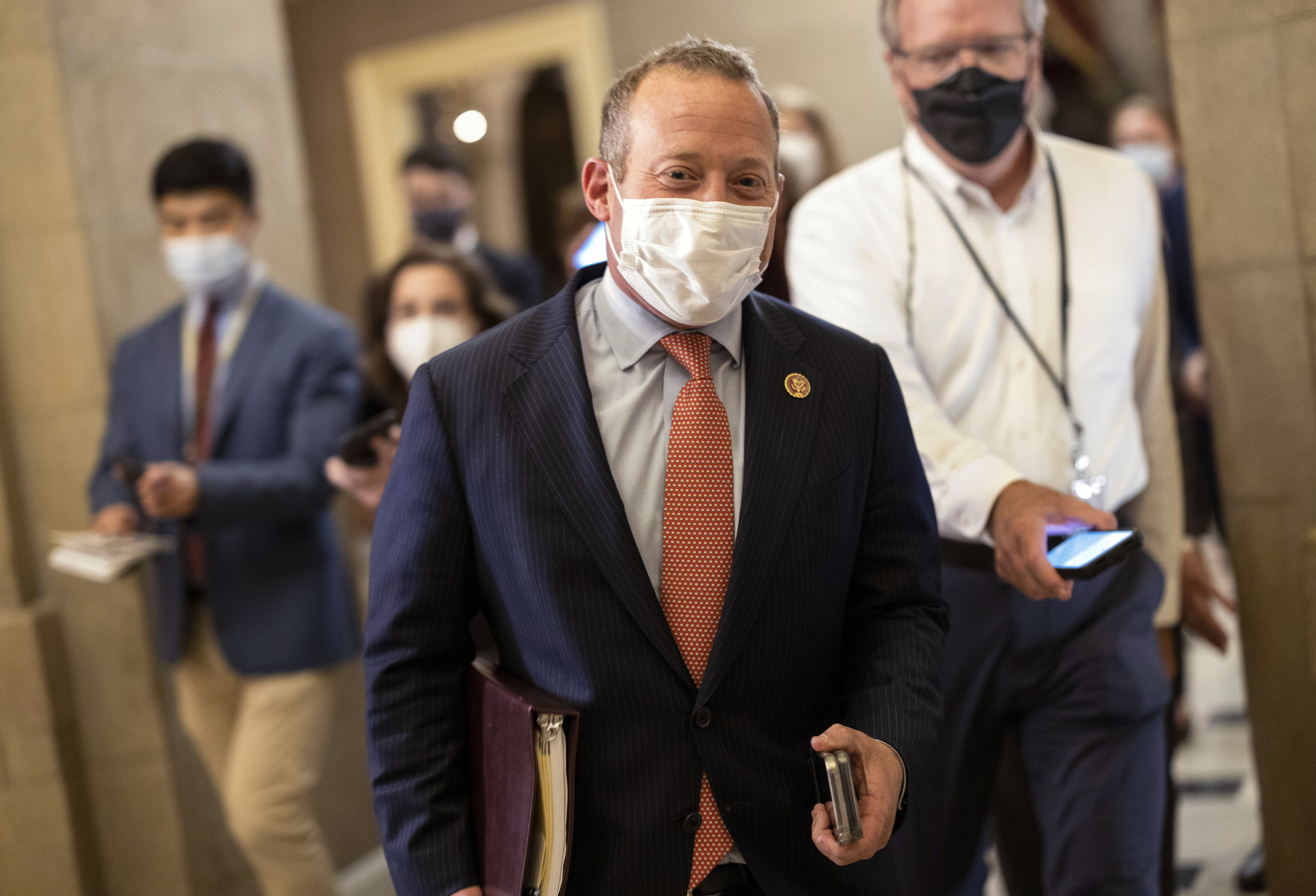 Rep. Josh Gottheimer has led nearly a dozen moderates insisting that the infrastructure bill be taken up before the budget. (Kevin Dietsch/Getty Images)