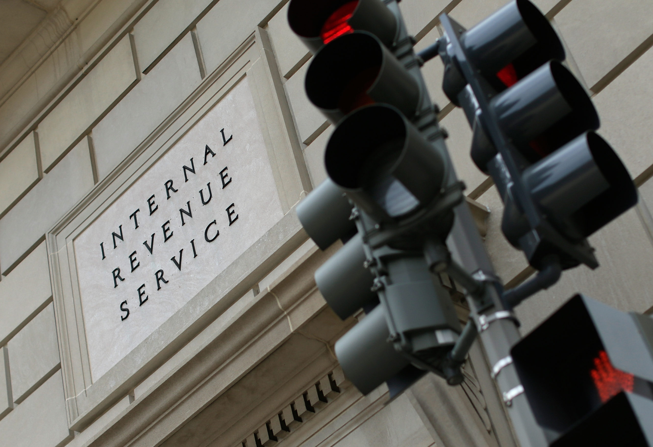 WASHINGTON, DC - JULY 22: The Internal Revenue Service Building is shown July 22, 2013 in Washington, DC. Due to current shortfalls in the federal budget, all Internal Revenue Service operations are closed today, with another furlough day scheduled for next month. (Photo by Win McNamee/Getty Images)