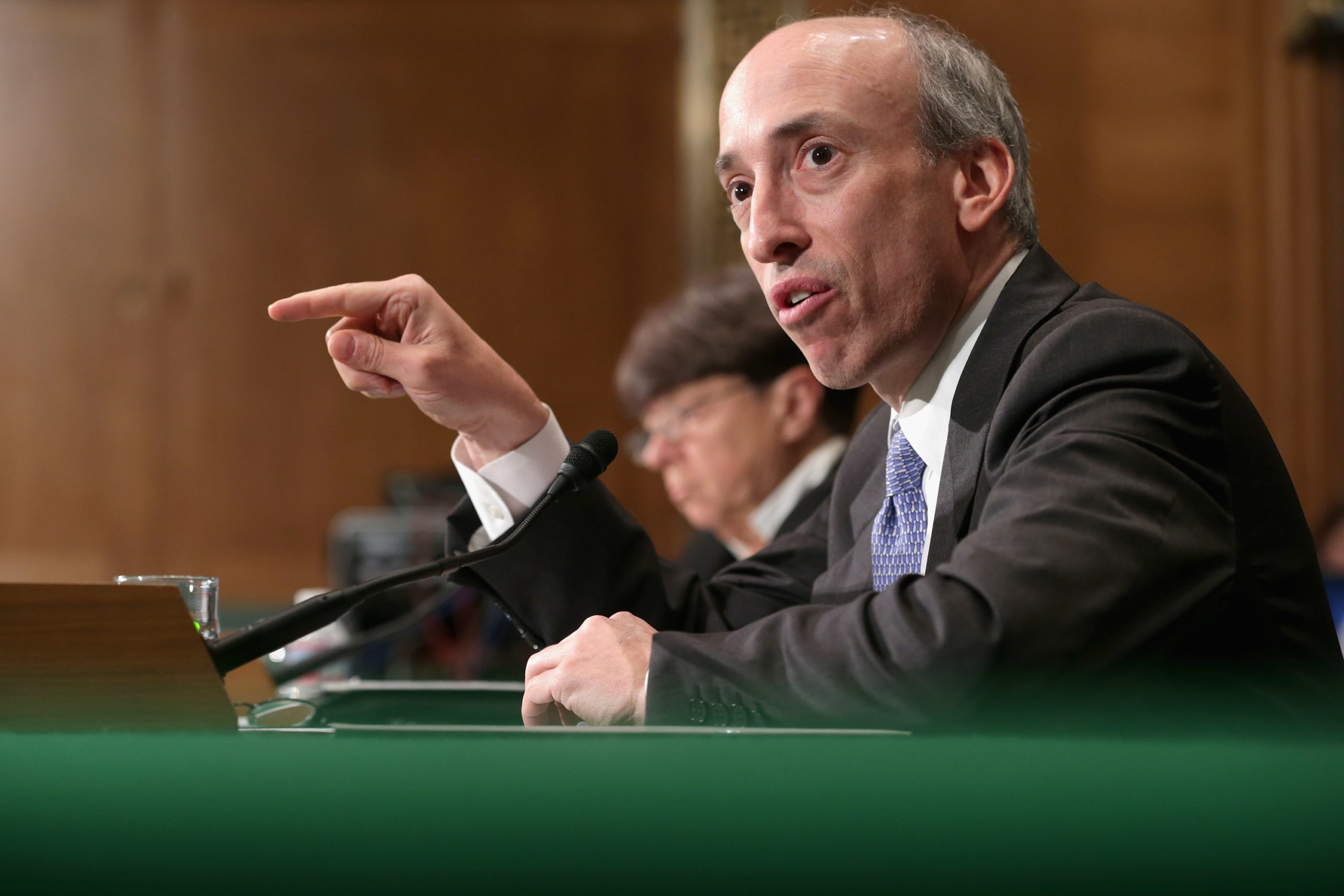 SEC Chairman Gary Gensler testifies before the Senate Banking Committee in 2013. (Chip Somodevilla/Getty Images)