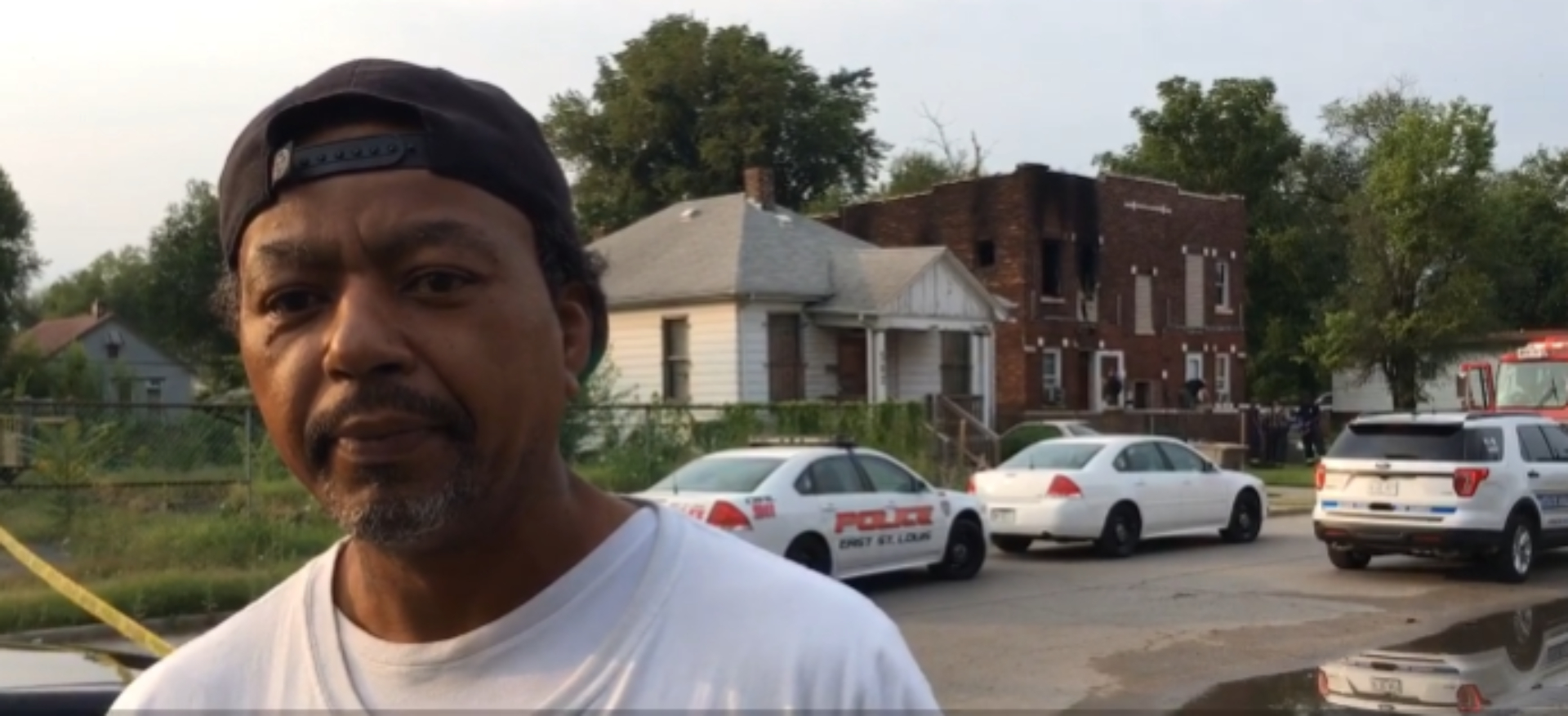 Picture of Kenneth Jennings, apartment resident, he escaped a fire in his apartment building where five children die [Website/Screenshot/St. Louis Post-Dispatch]