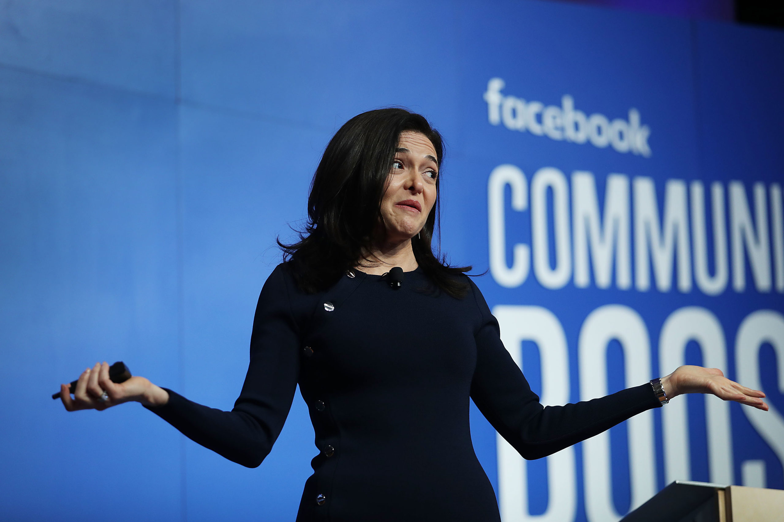 Facebook Chief Operating Officer Sheryl Sandberg speaks during a Facebook Community Boost event at the Knight Center on December 18, 2018 in Miami, Florida. (Photo by Joe Raedle/Getty Images)