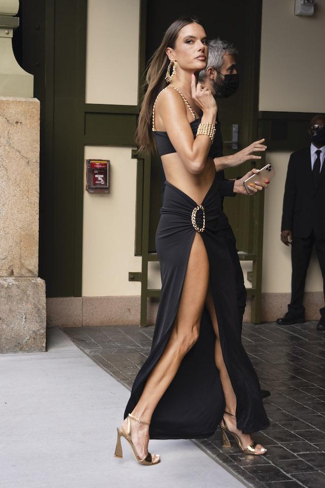 Alessandra Ambrosio At NYFW (Photo Credit: Tim Regas / SplashNews.com)
