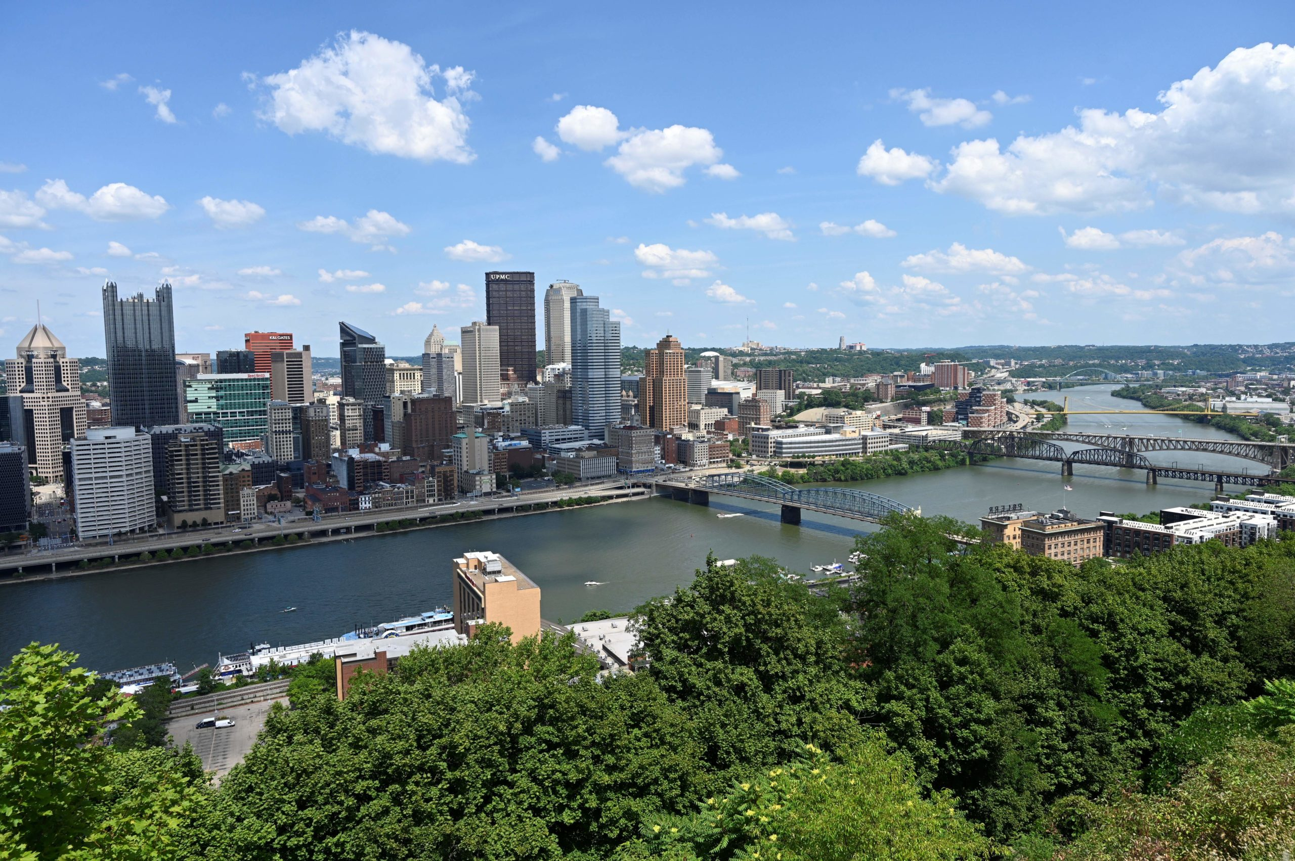 Downtown Pittsburgh, Pennsylvania is pictured on July 25, 2020. (Photo by DANIEL SLIM/AFP via Getty Images)