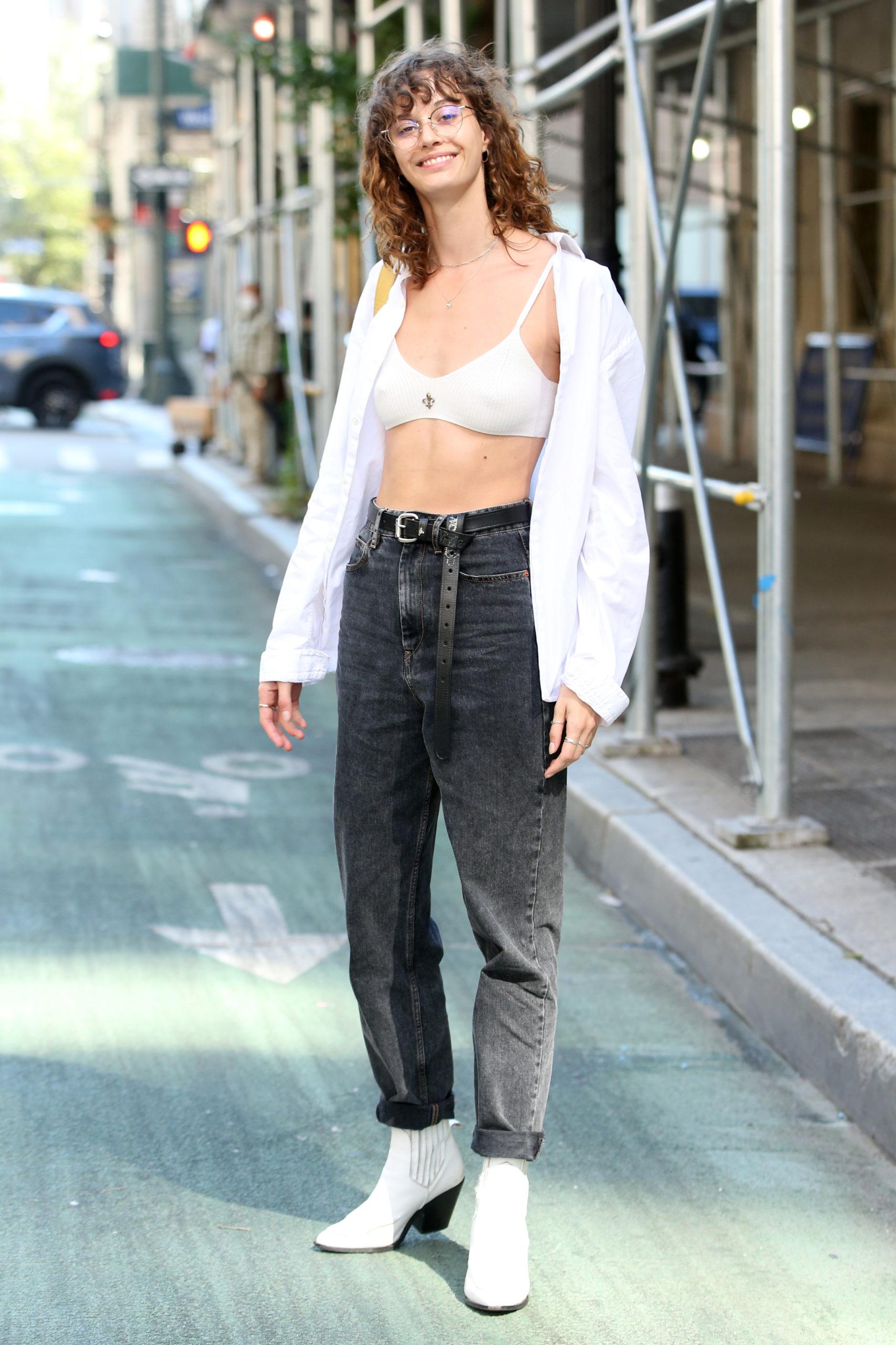 Kamala Harris' Stepdaughter Ella Emhoff. New York City, USA (Photo credit: Christopher Peterson / SplashNews.com)