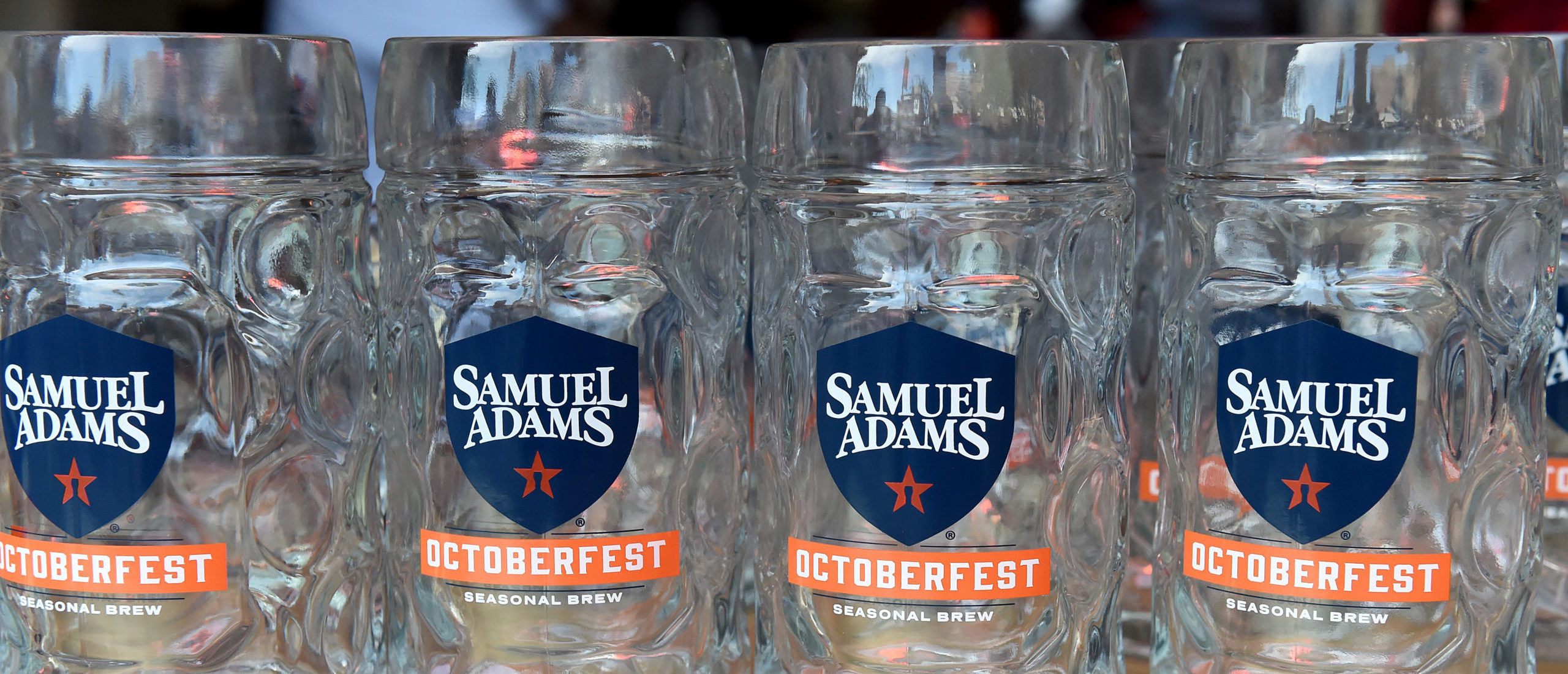 NEW YORK, NEW YORK - OCTOBER 12: A view of Samuel Adams during Oktoberfest hosted by Andrew Zimmern at The Standard Highline on October 12, 2019 in New York City. (Photo by Daniel Zuchnik/Getty Images for NYCWFF)