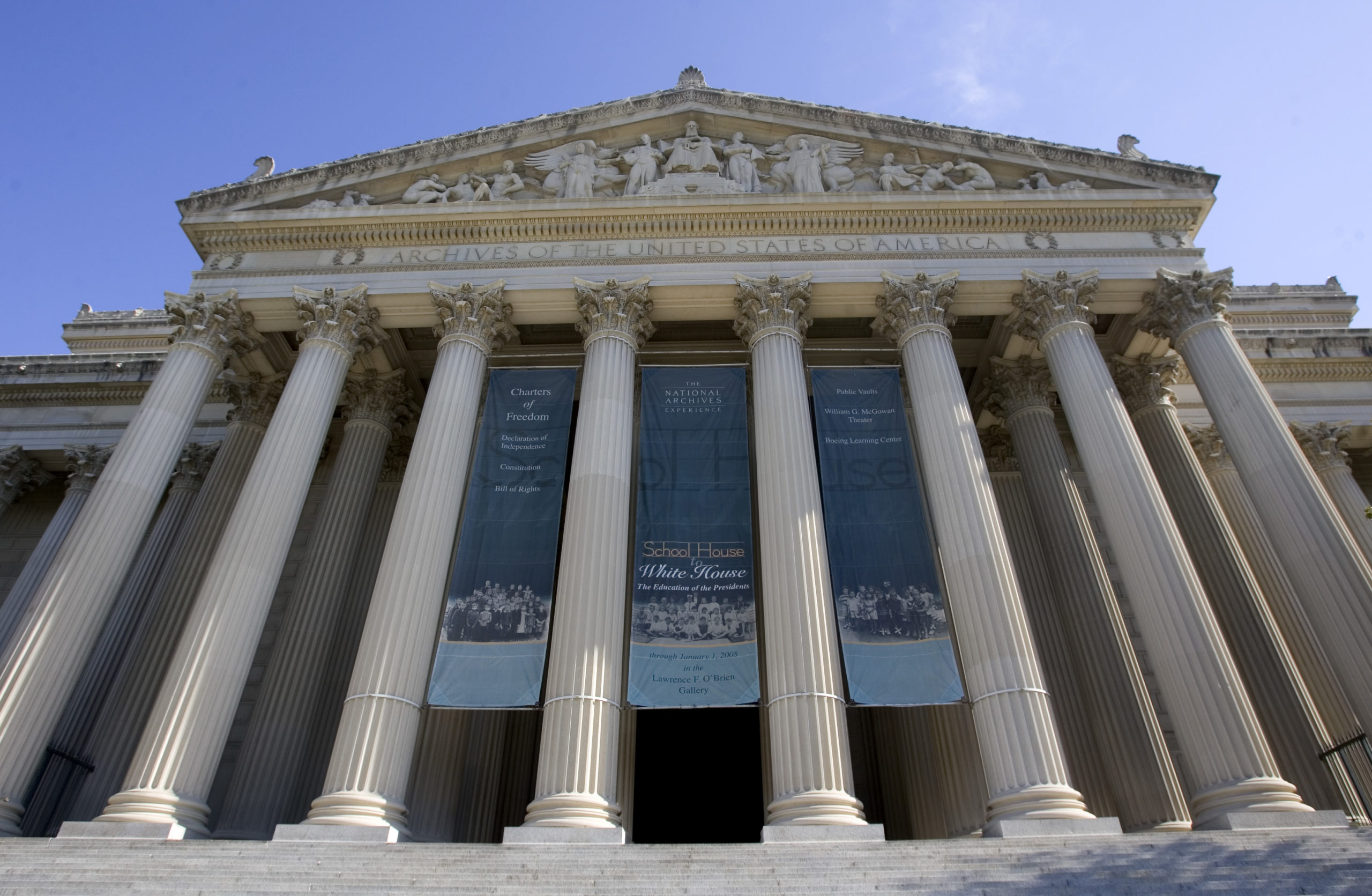 The National Archives building is shown in Washington, D.C. (Saul Loeb/AFP via Getty Images)
