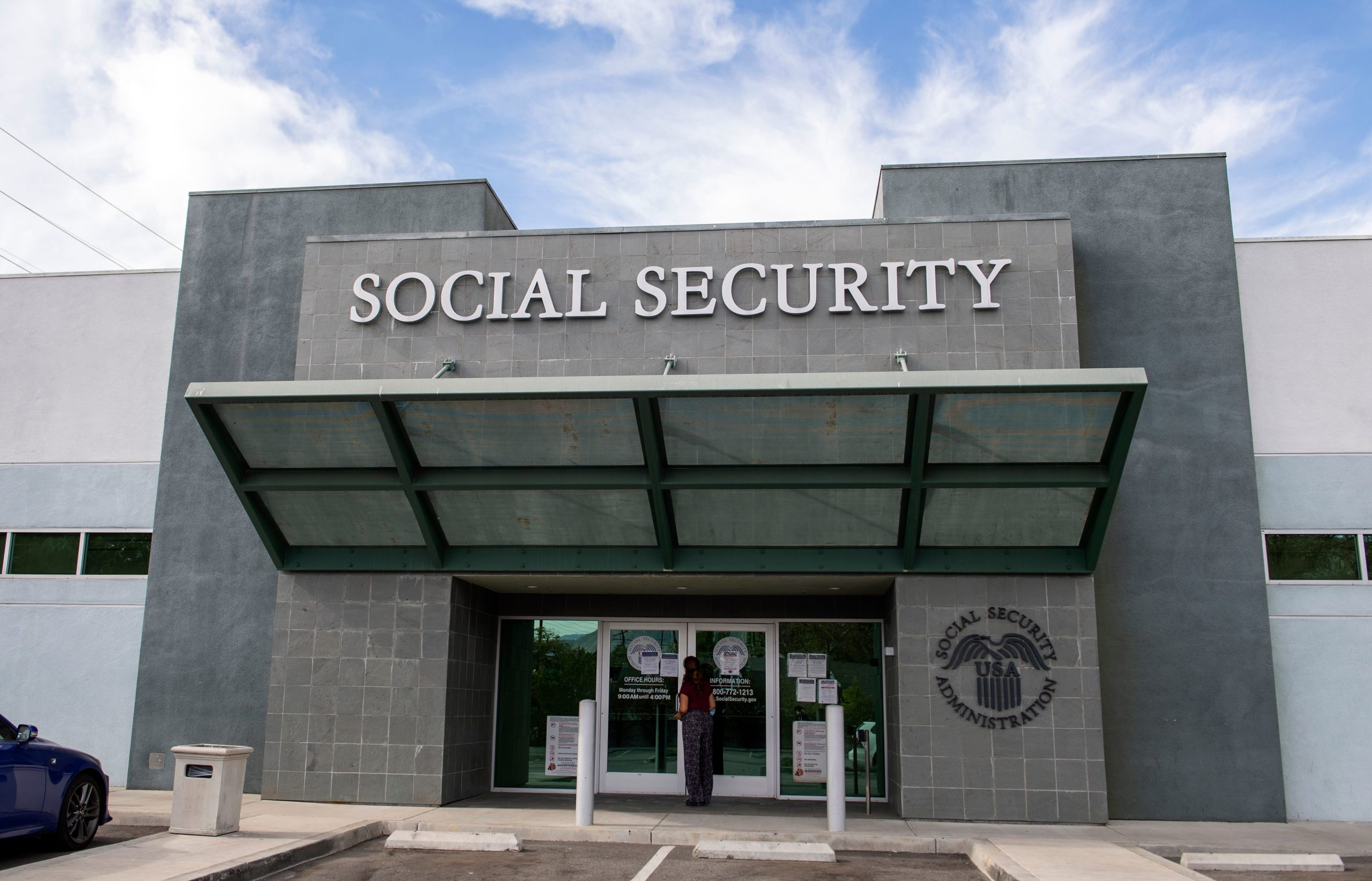 The Social Security Administration building in Burbank, California is pictured on Nov. 5, 2020. (Valerie Macon/AFP via Getty Images)