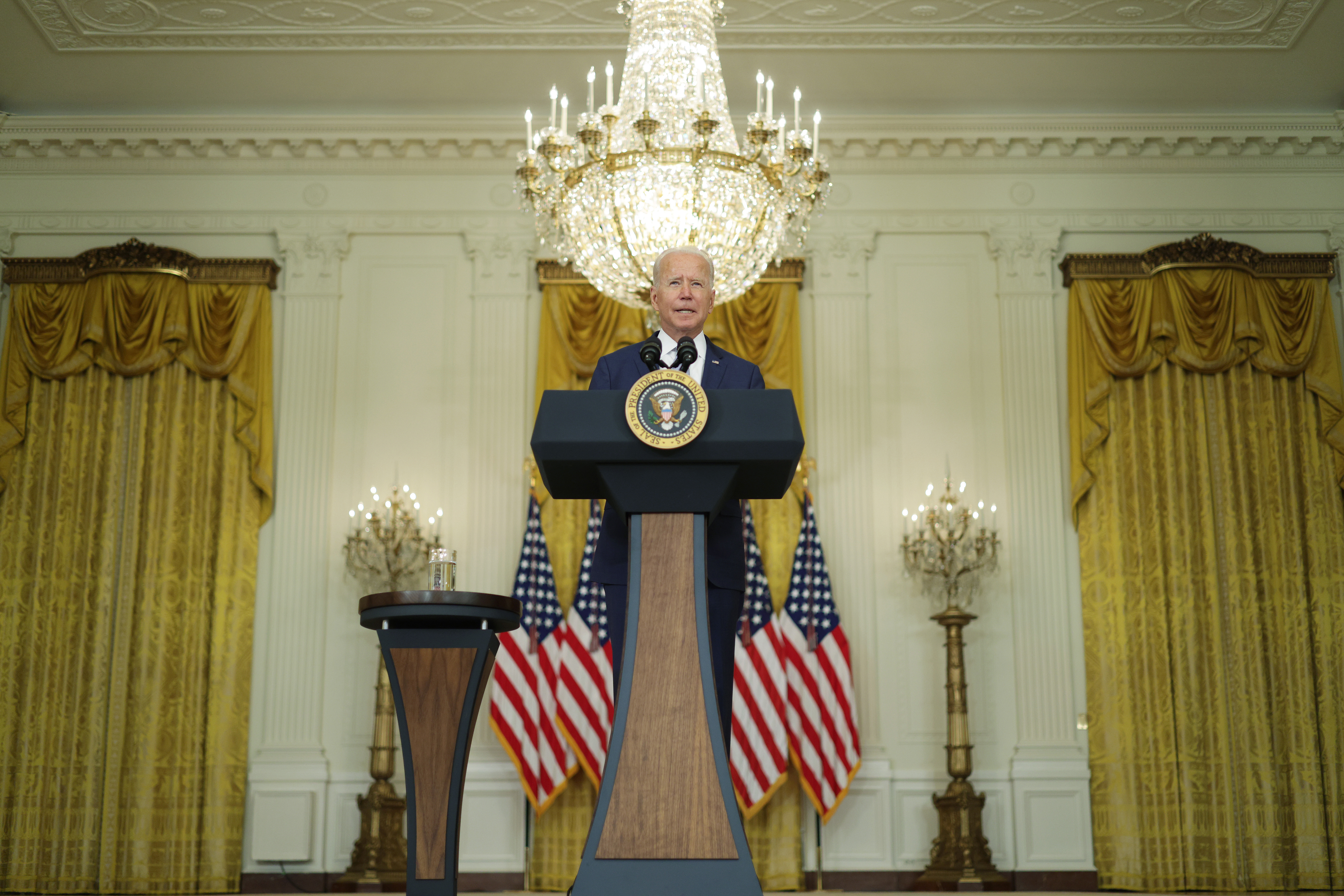 President Joe Biden delivers remarks on drug prices at the White House on Aug. 12. (Alex Wong/Getty Images)