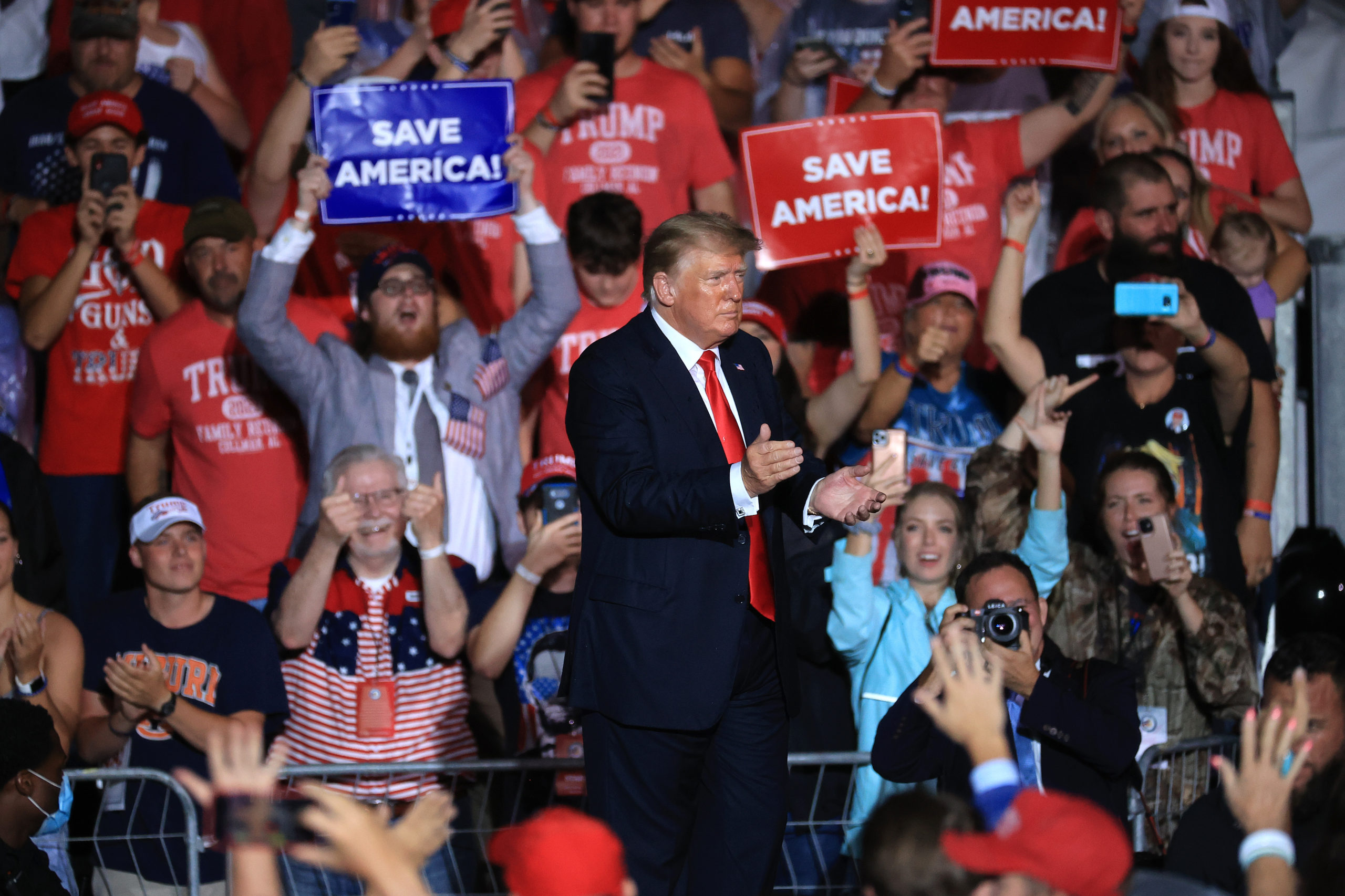 Former President Donald Trump Holds A Rally In Alabama