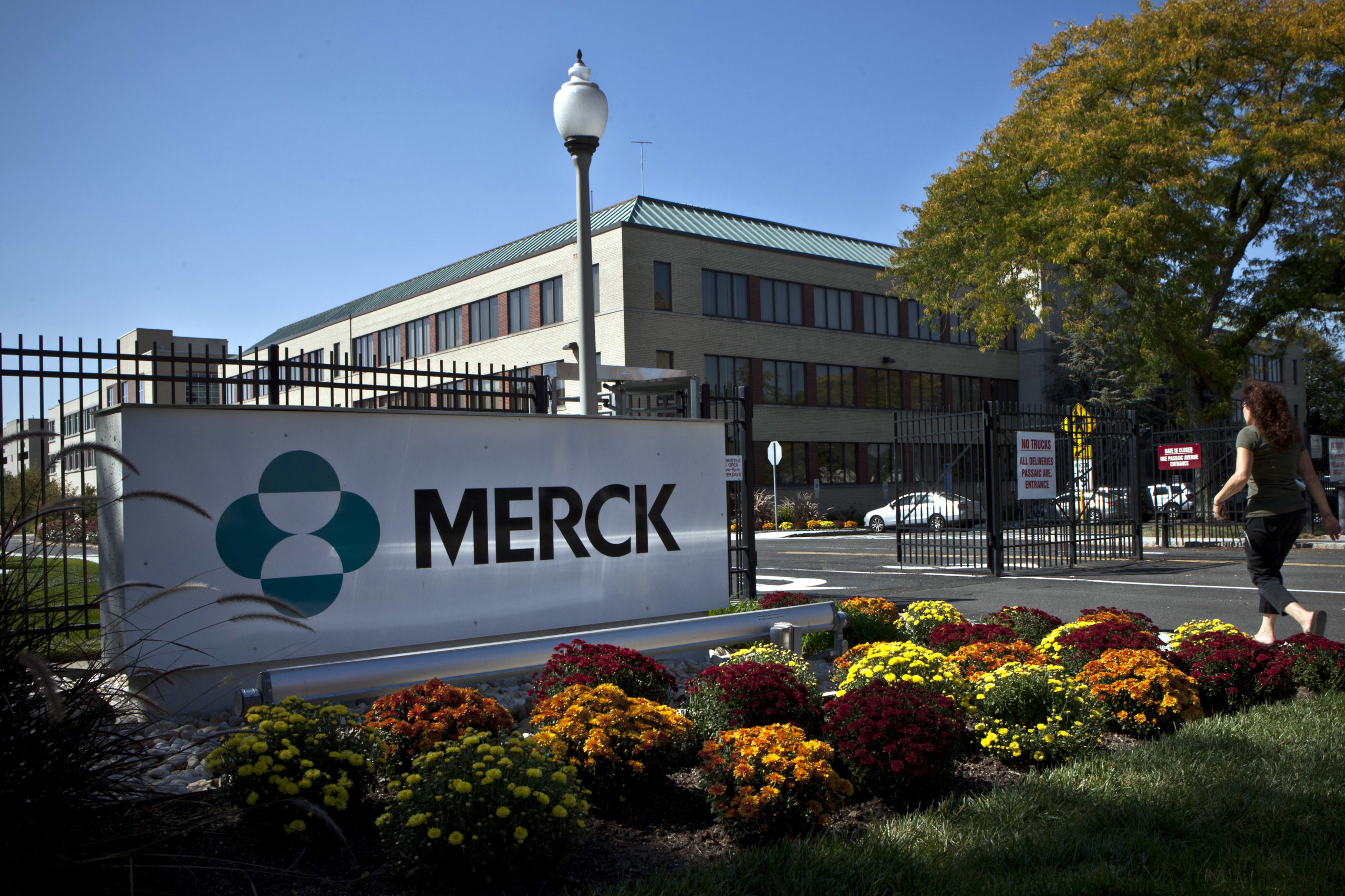 American pharmaceutical giant Merck's headquarters in Summit, New Jersey. (Kena Betancur/Getty Images)
