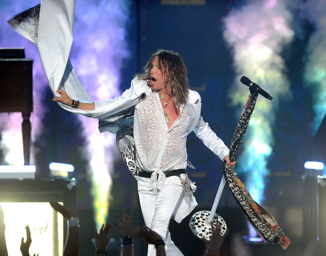 Singer Steven Tyler performs during the 46th Annual Academy of Country Music Awards at the MGM Grand Garden Arena April 3, 2011 in Las Vegas, Nevada. (Photo by Ethan Miller/Getty Images)