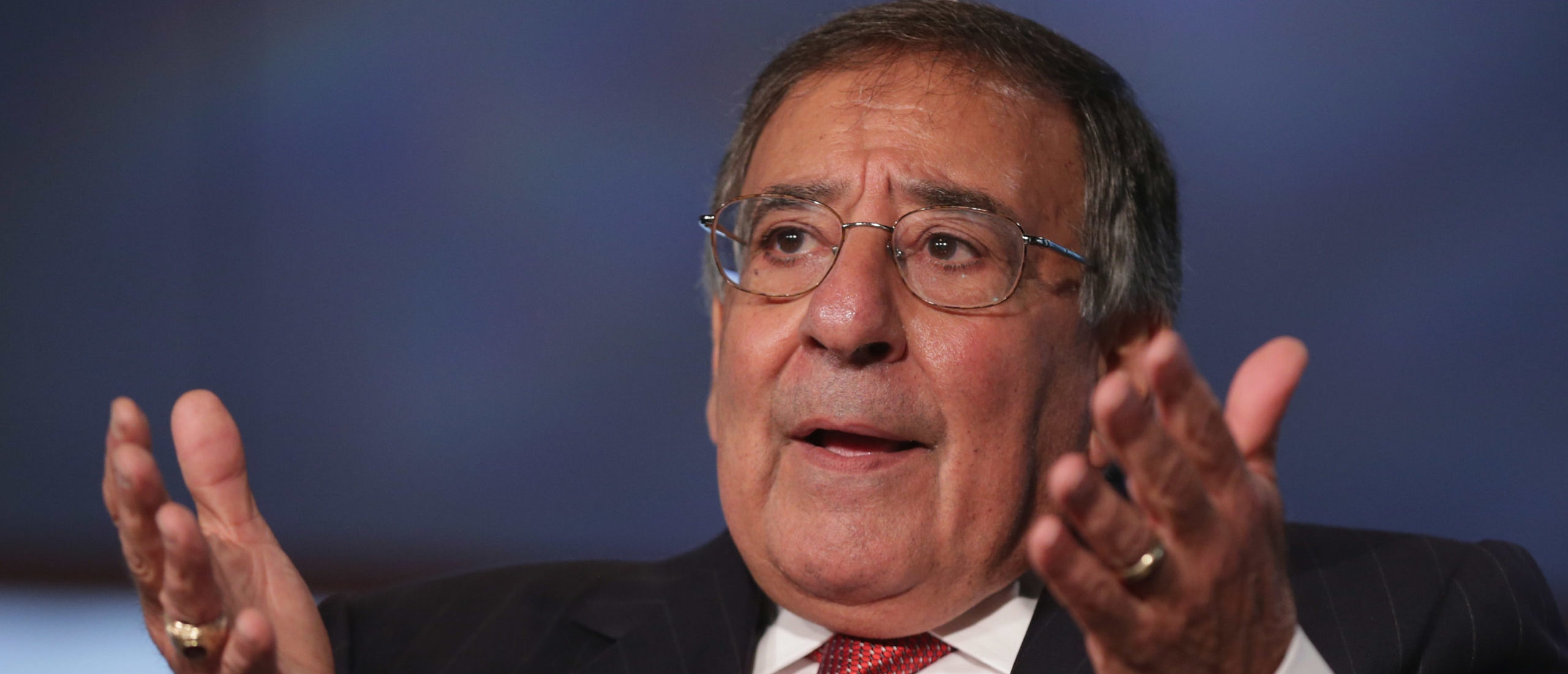 Former Secretary of Defense and director of the Central Intelligence Agency Leon Panetta discuss his new book, 'Worthy Fights,' during an event in the Jack Morton Auditorium at George Washington University October 14, 2014 in Washington, DC. (Photo by Chip Somodevilla/Getty Images)