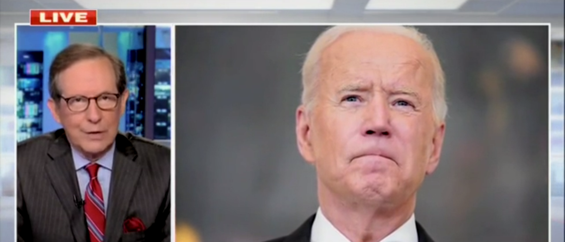 'He Doesn't Have Much Political Cover': Chris Wallace Says Biden's Tanking Poll Numbers Will Hurt His Agenda