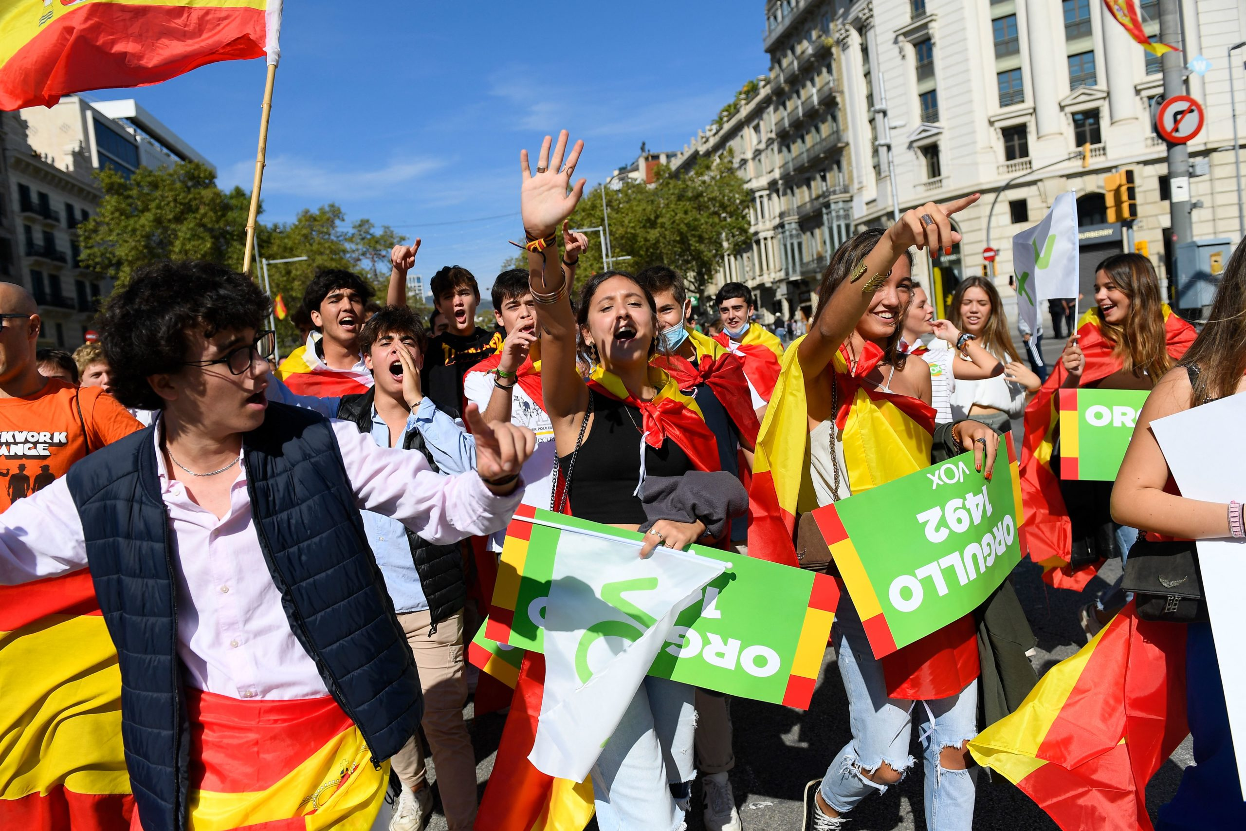 SPAIN-NATIONAL DAY-DEMO
