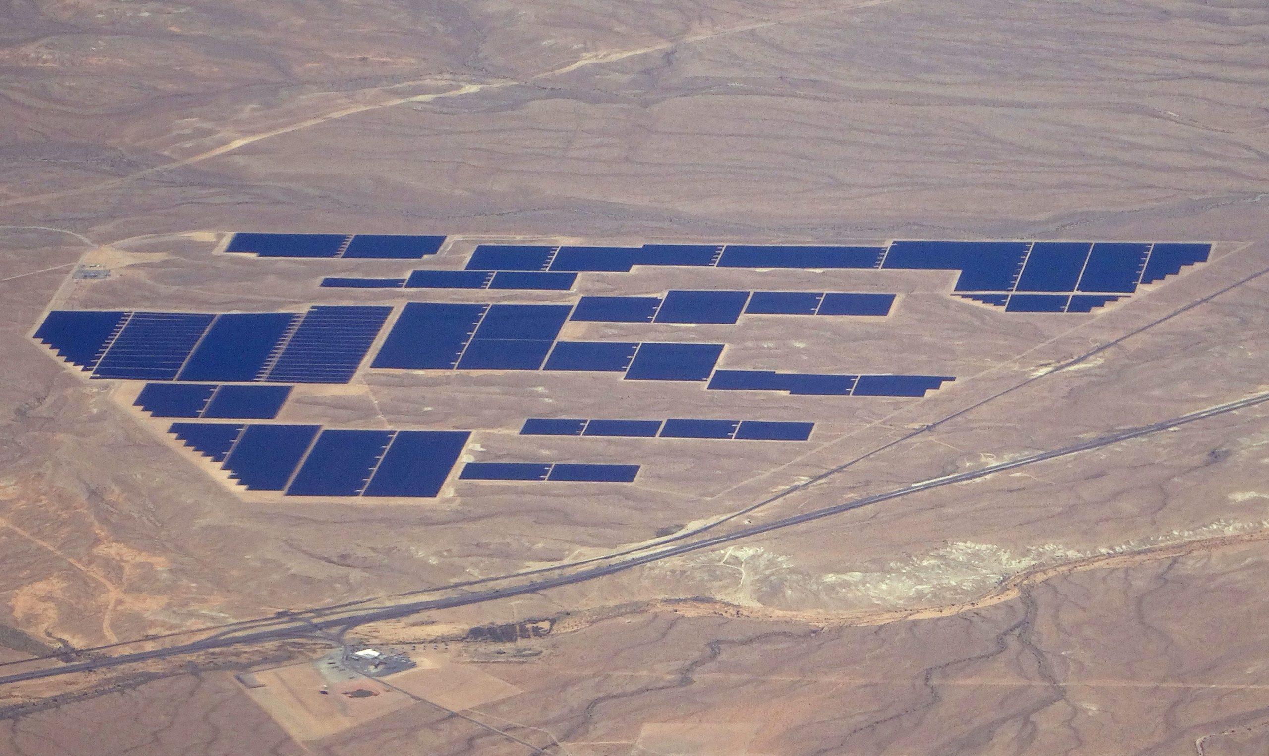 An aerial view of a Solar Farm near Las Vegas, Nevada. (Daniel Slim/AFP via Getty Images)