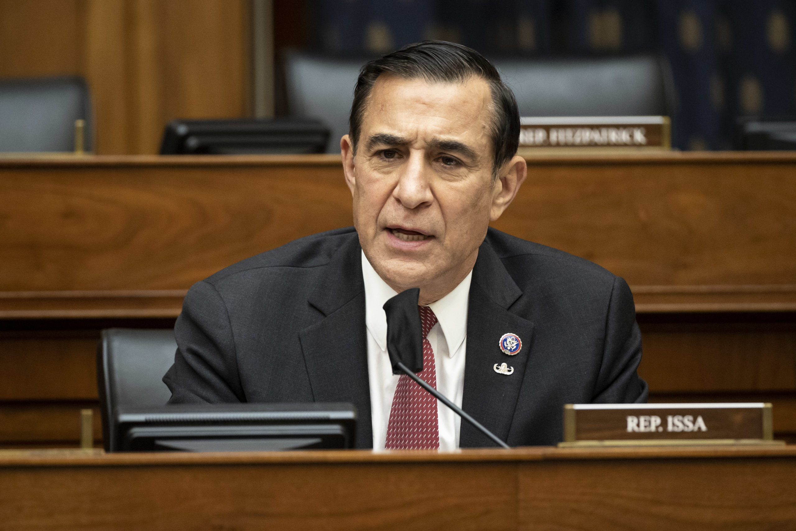WASHINGTON, DC - MARCH 10: Rep. Darrell Issa (R-CA) speaks as U.S. Secretary of State Antony Blinken testifies before the House Committee On Foreign Affairs March 10, 2021 on Capitol Hill in Washington, DC. Blinken is expected to take questions about the Biden administration's priorities for U.S. foreign policy. (Photo by Ting Shen-Pool/Getty Images)
