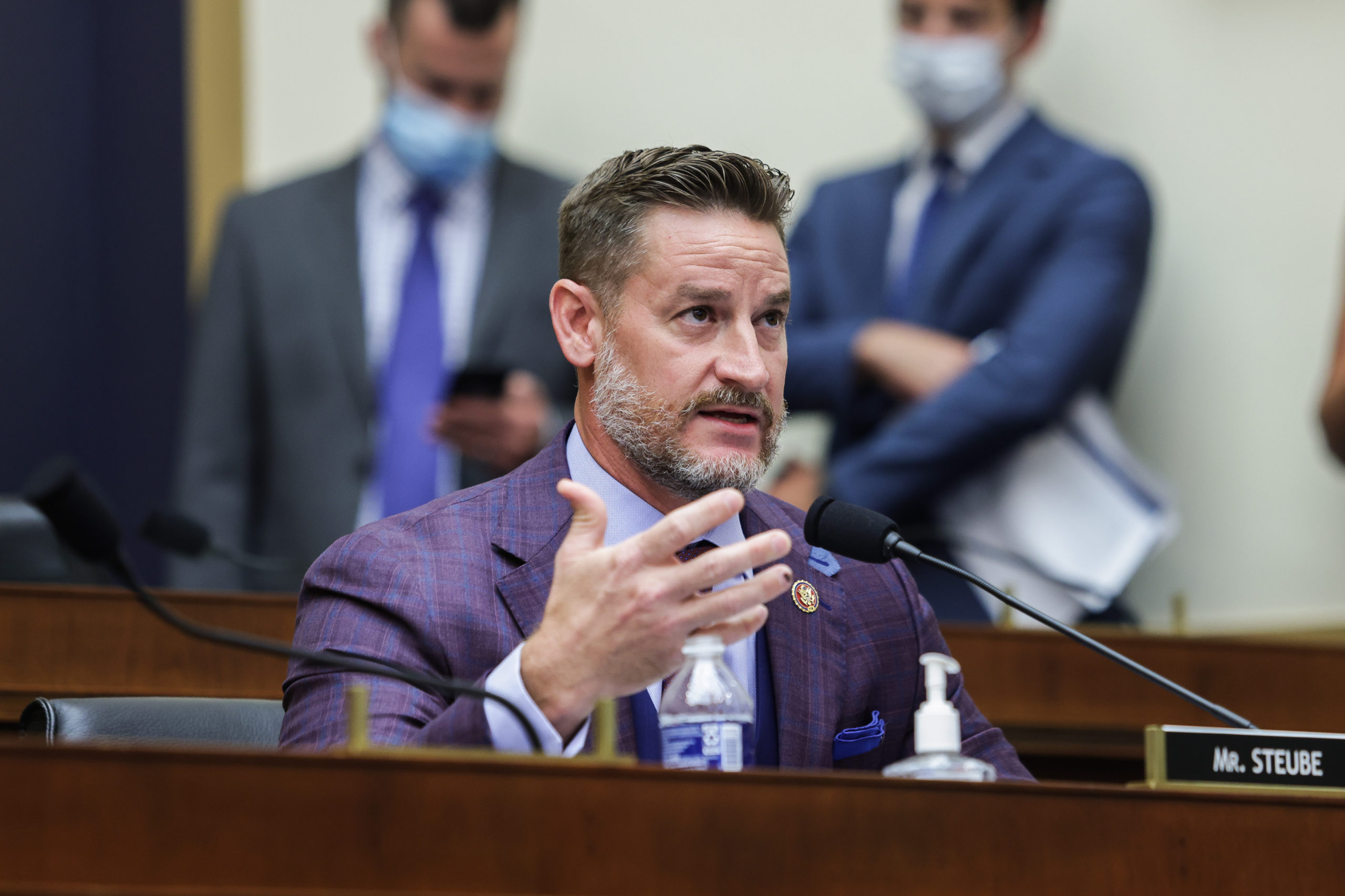 WASHINGTON, DC - JULY 29: Rep. Greg Steube (R-FL) speaks during the House Judiciary Subcommittee on Antitrust, Commercial and Administrative Law hearing on Online Platforms and Market Power in the Rayburn House office Building, July 29, 2020 on Capitol Hill in Washington, DC. The committee was scheduled to hear testimony from the CEOs of Apple, Facebook, Amazon and Google. (Photo by Graeme Jennings-Pool/Getty Images)
