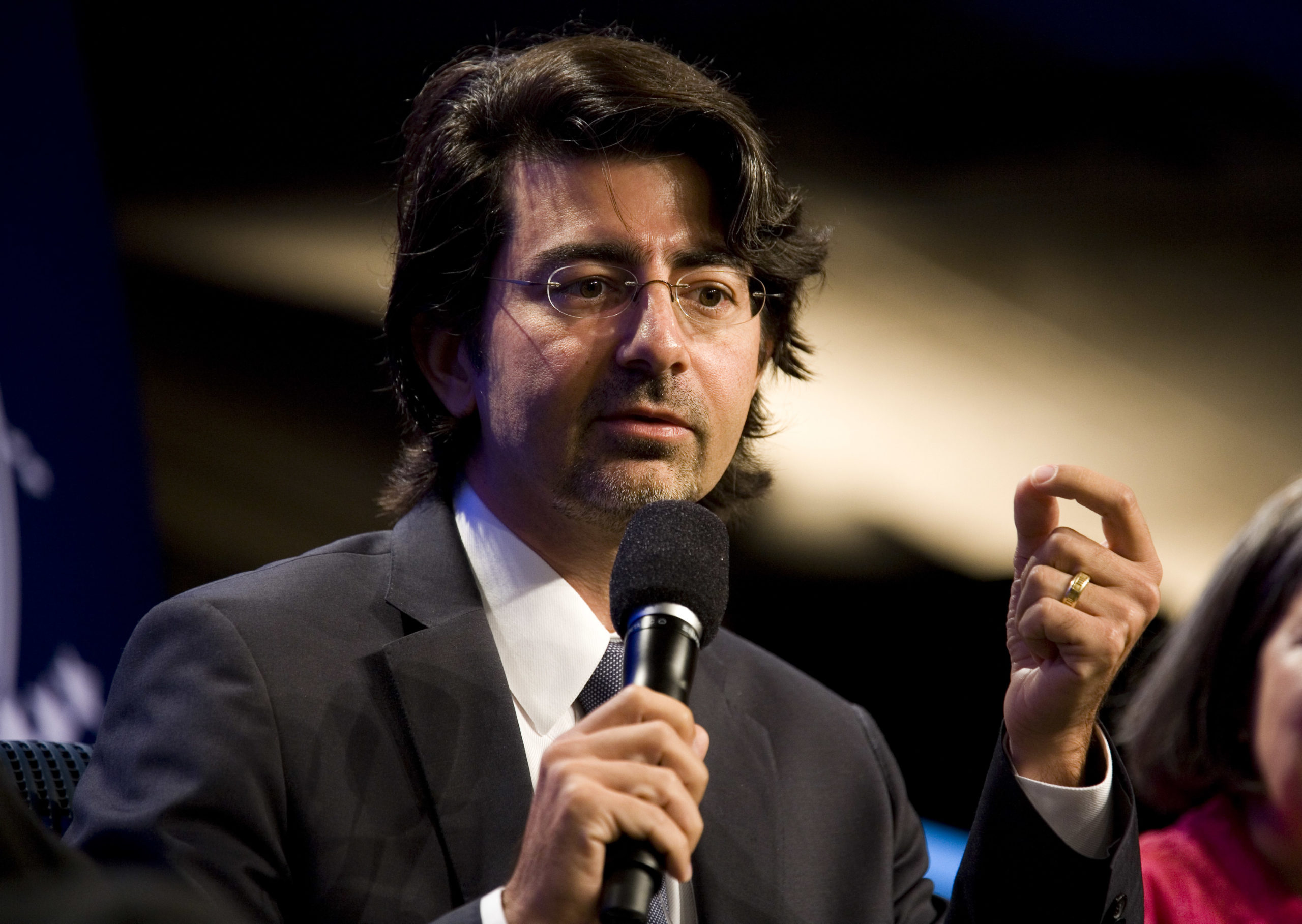 eBay founder Pierre Omidyar speaks during the panel session Democracy and Voice: Technology For Citizen Empowerment and Human Rights during the annual Clinton Global Initiative (CGI) on September 23, 2010 in New York City. (Photo by Brian Harkin/Getty Images)
